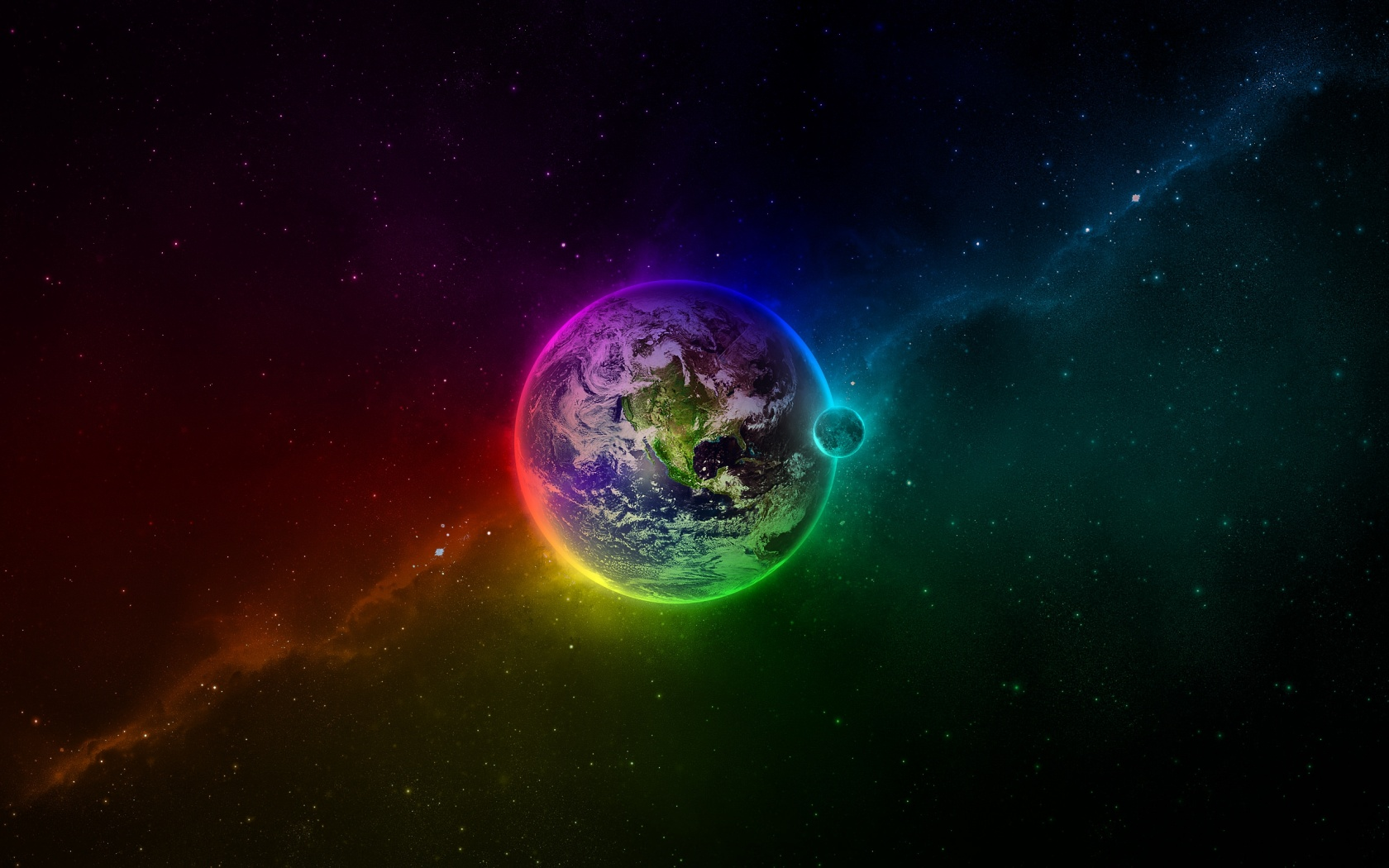 Colorful Earth desktop wallpaper