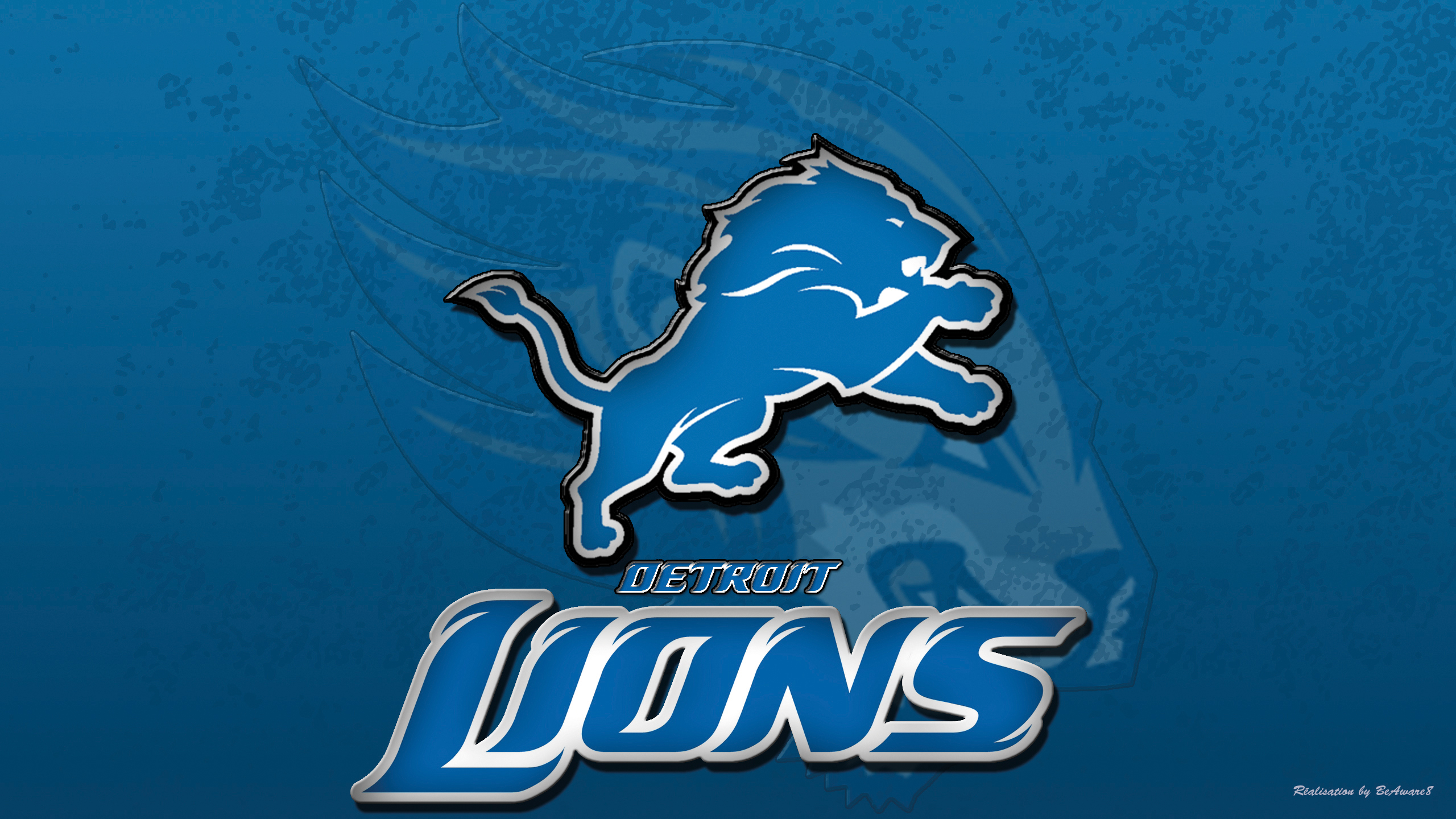 Excellent Detroit Lions Blue Logo Face Tigers Wings Nfl Backgrounds Wallpapers