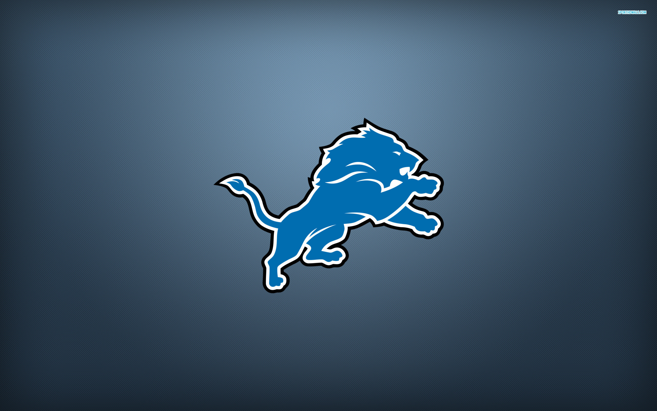Awe Inspiring Detroit Lions Blue Logo Bright Backgrounds Nfl Wallpapers 2560x1600px