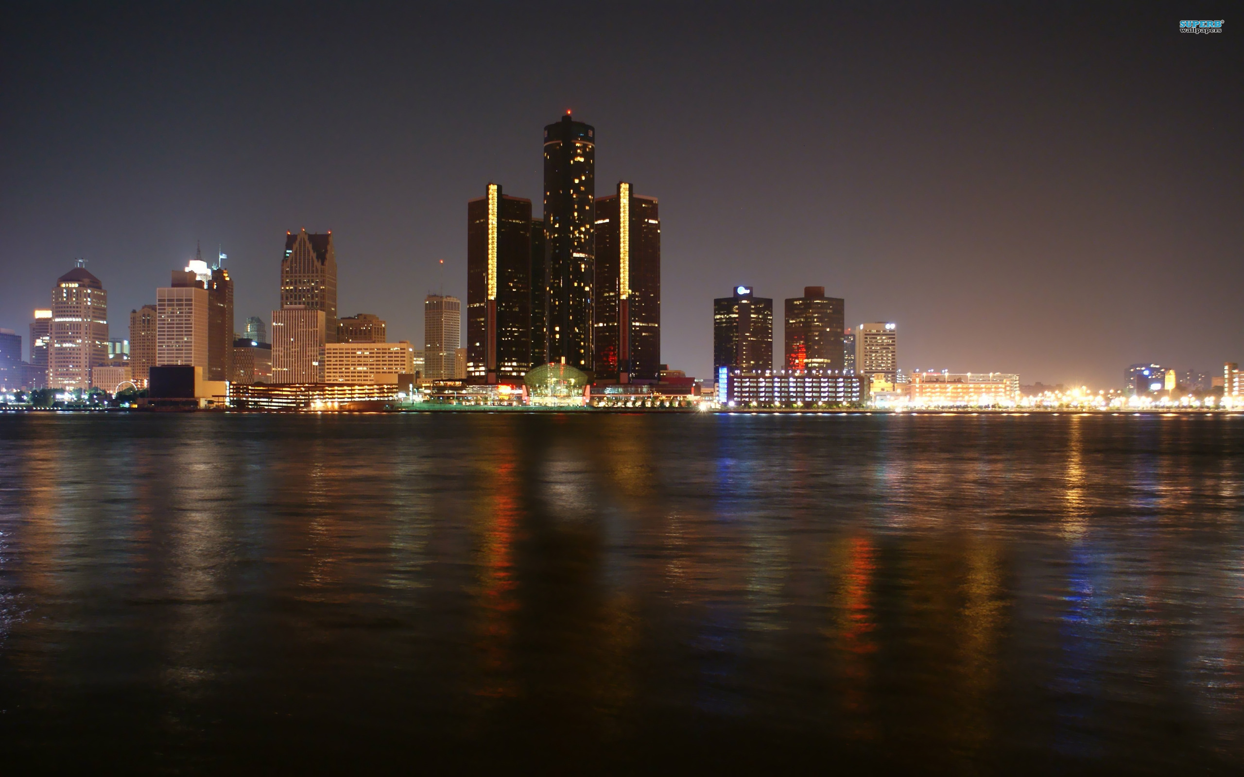 Detroit Skyline wallpaper 2560x1600