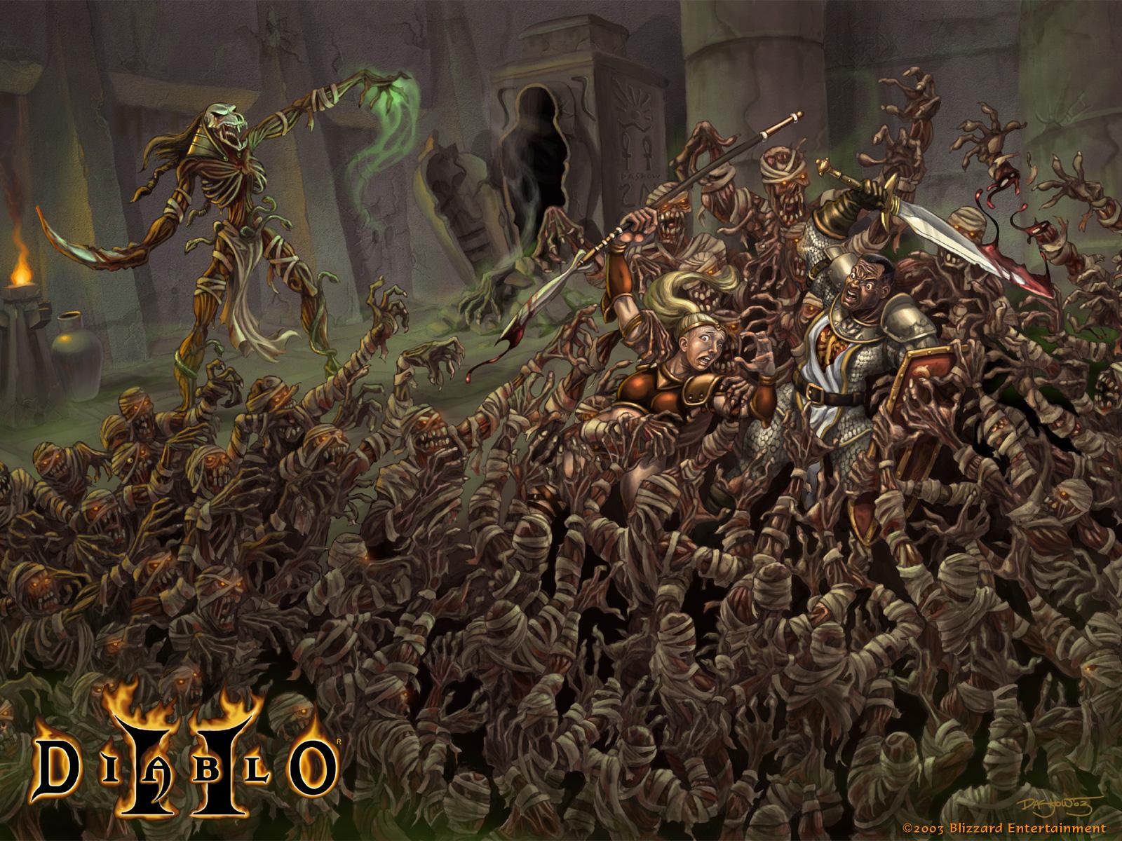 Fond d'écran Diablo 2 - 1024x768