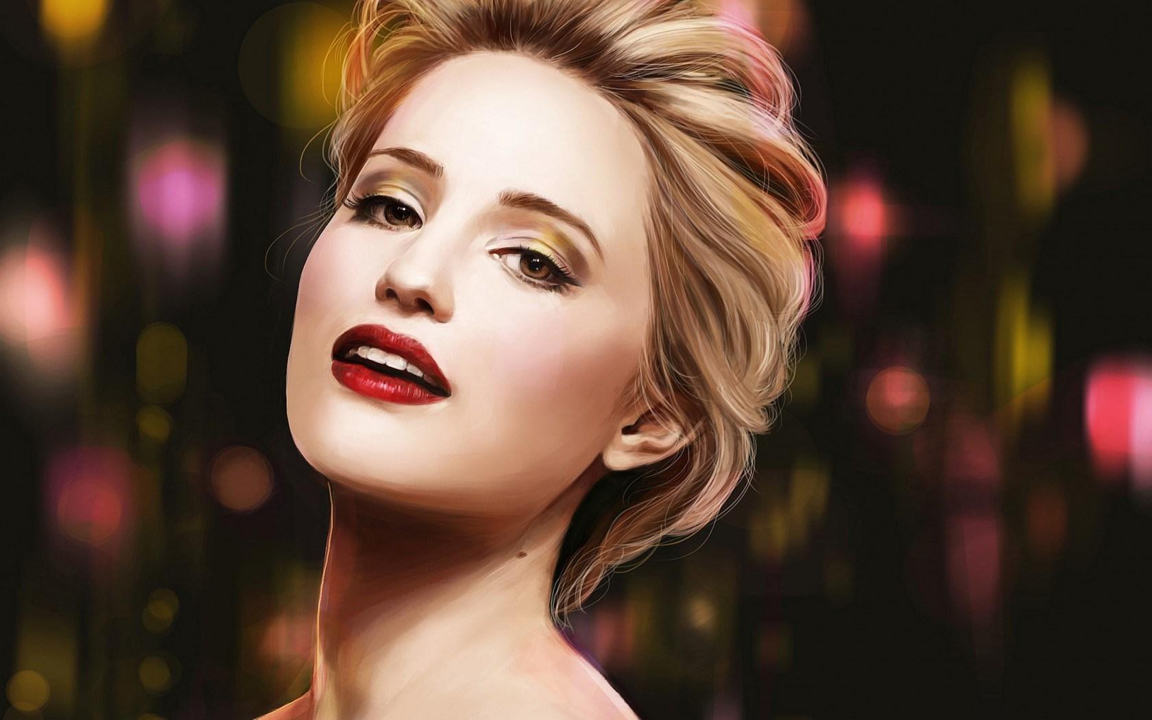 Dianna Agron Blonde Girl Actress Singer Artwork