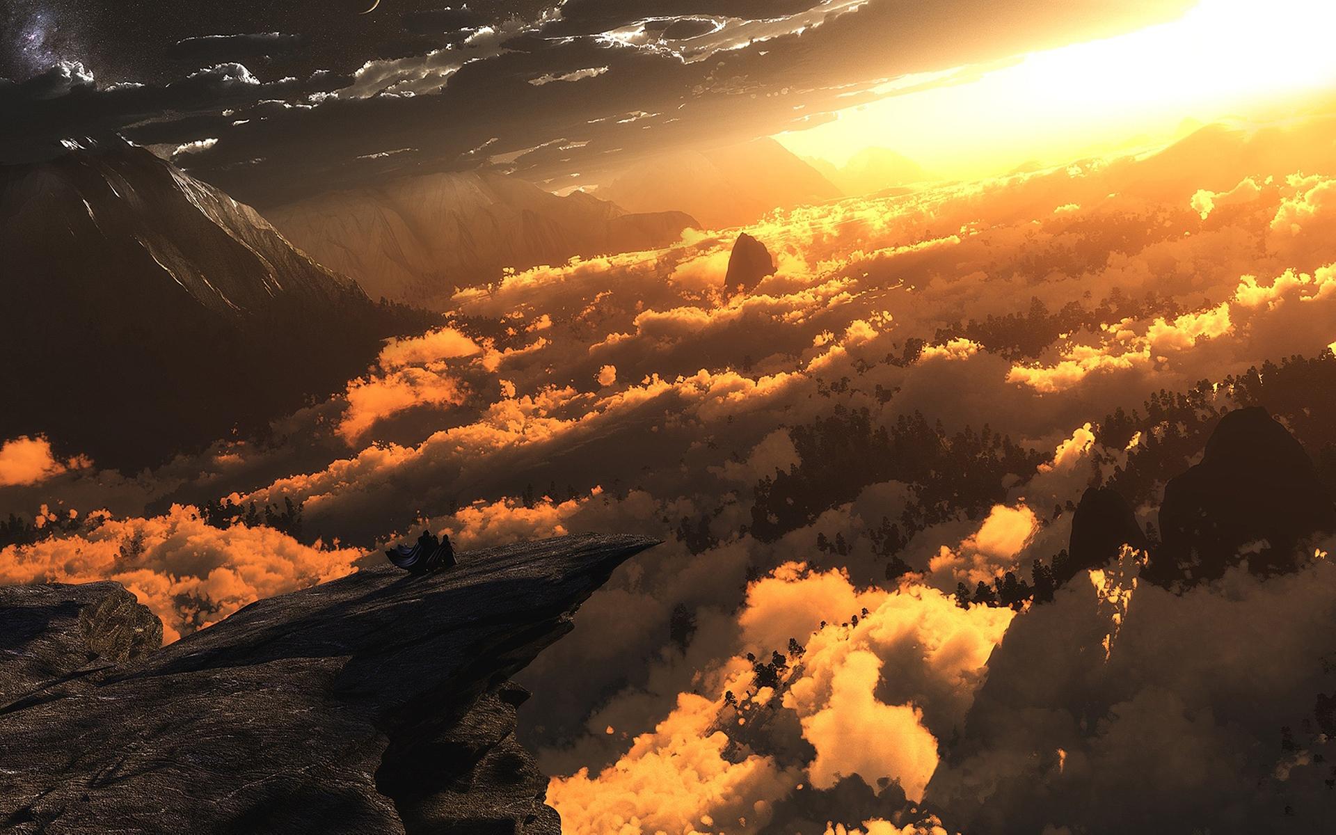 Digital Landscape Sunset