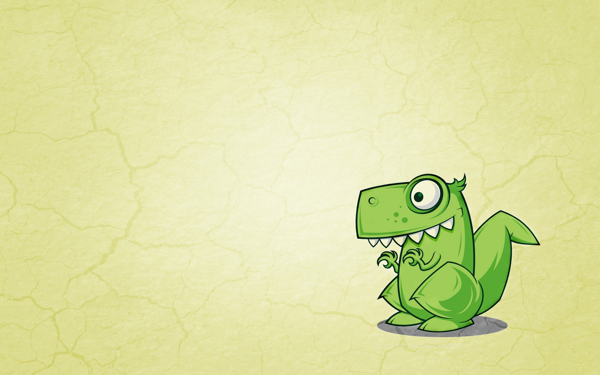 Dinosaur Green Cartoon Art
