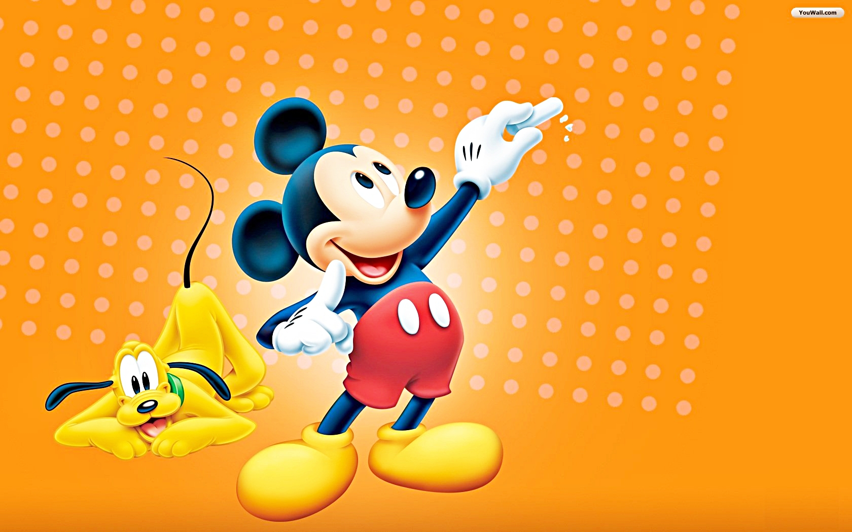 Walt Disney Characters Walt Disney Wallpapers - Pluto & Mickey Mouse