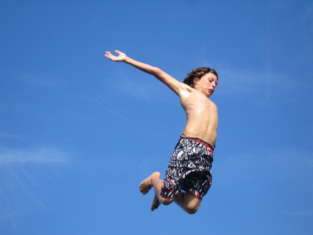 Diving boy