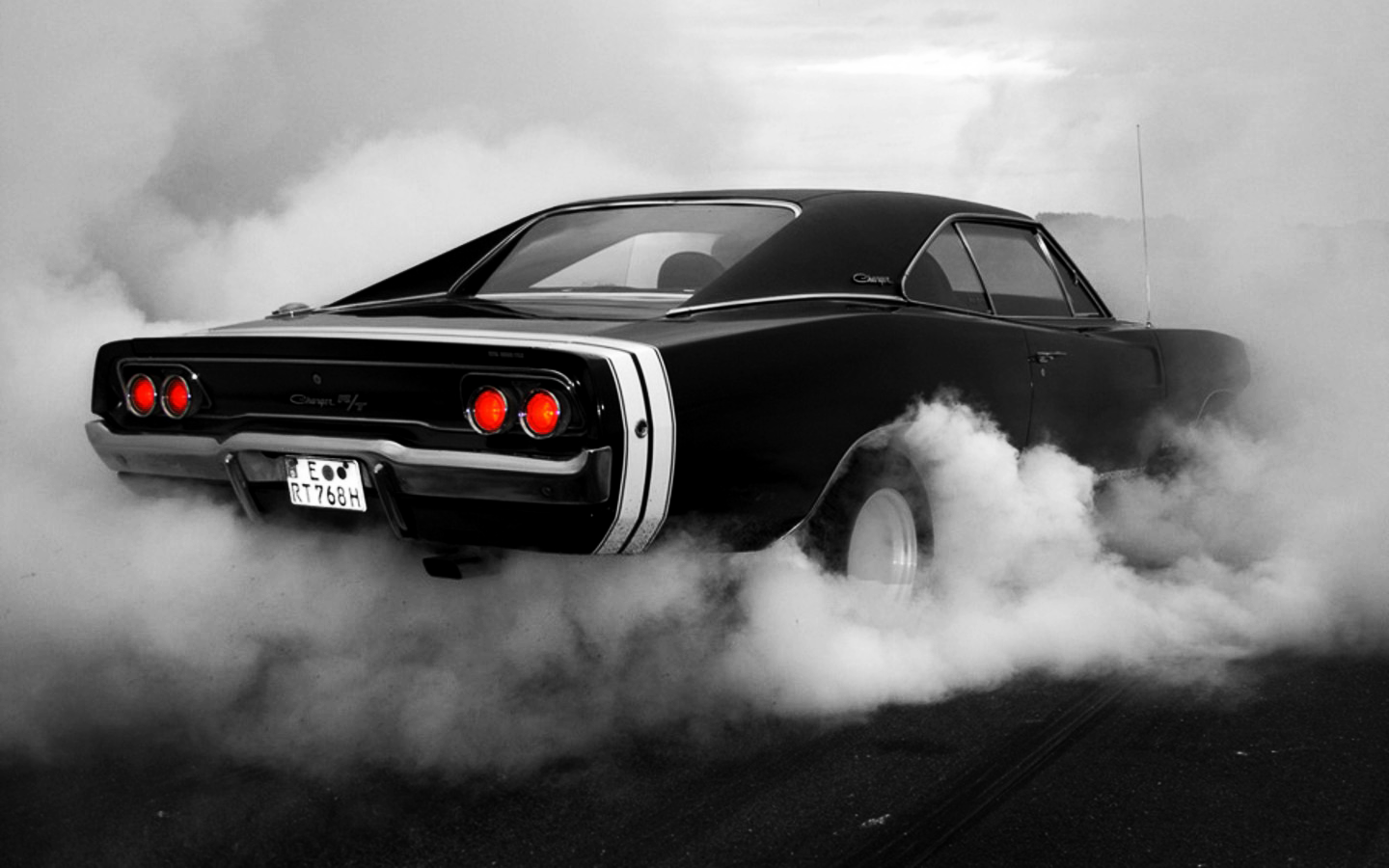 Dodge charger burnout