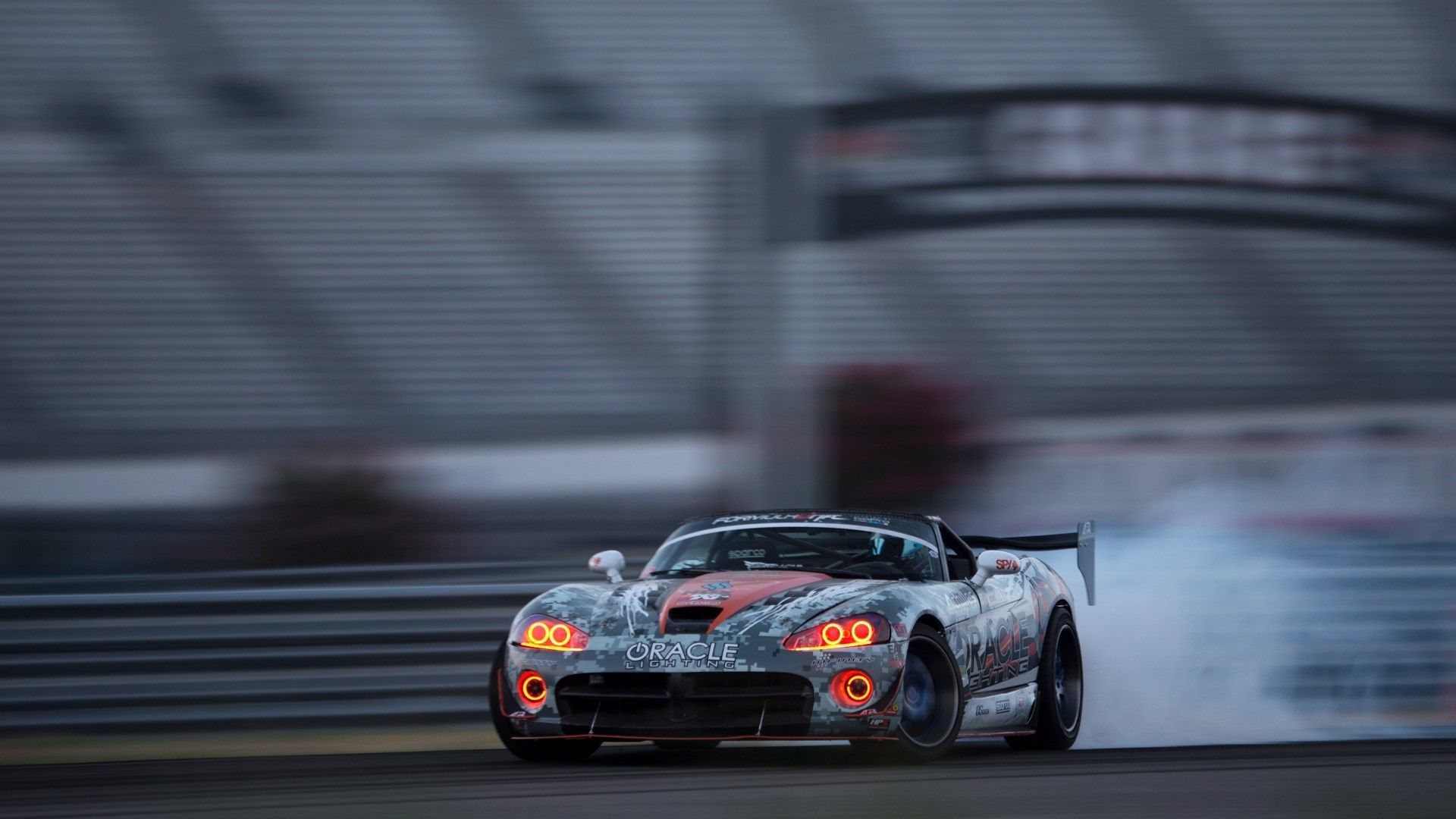 Dodge Viper Car Drift Smoke