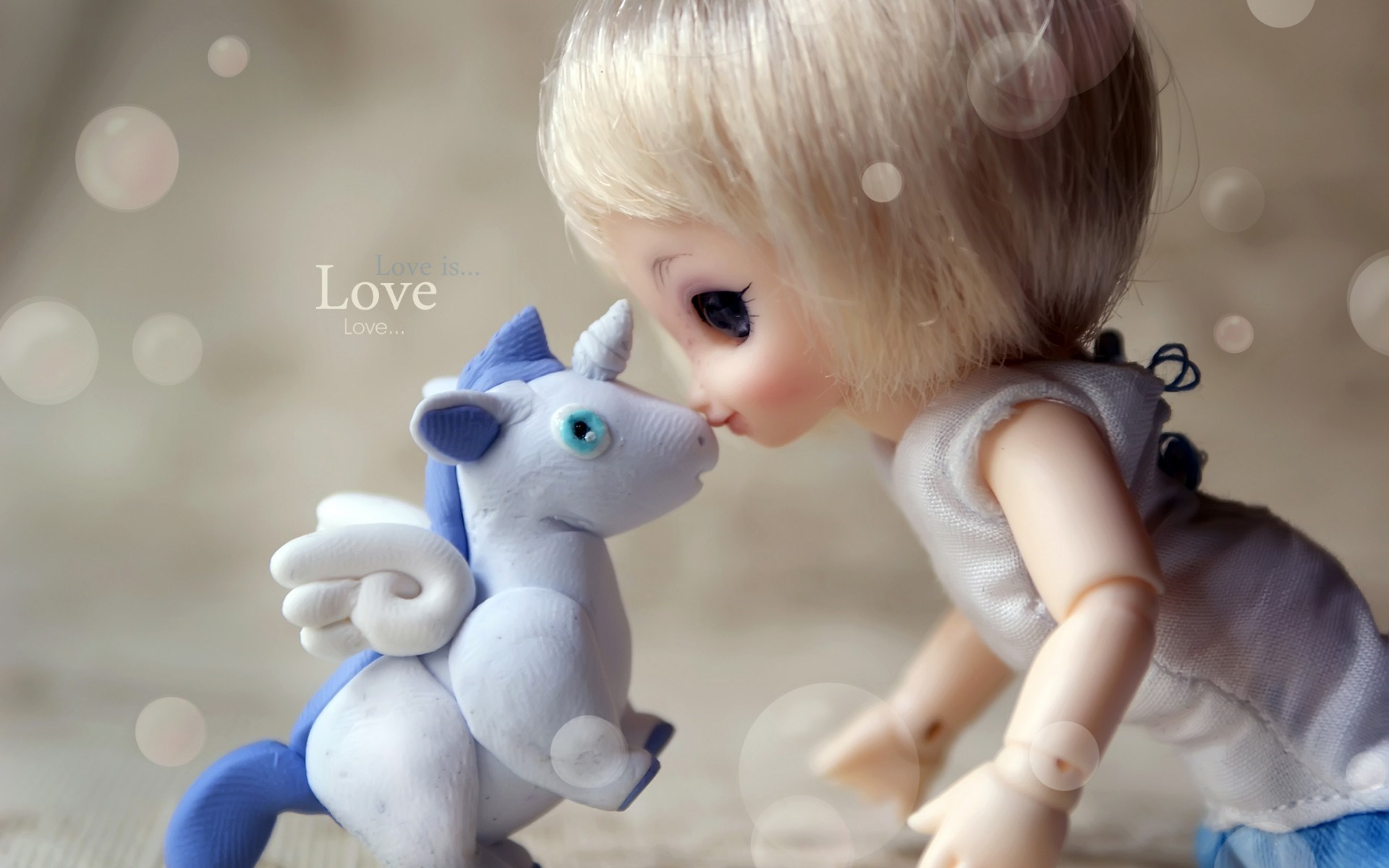 Doll Unicorn Tenderness Love