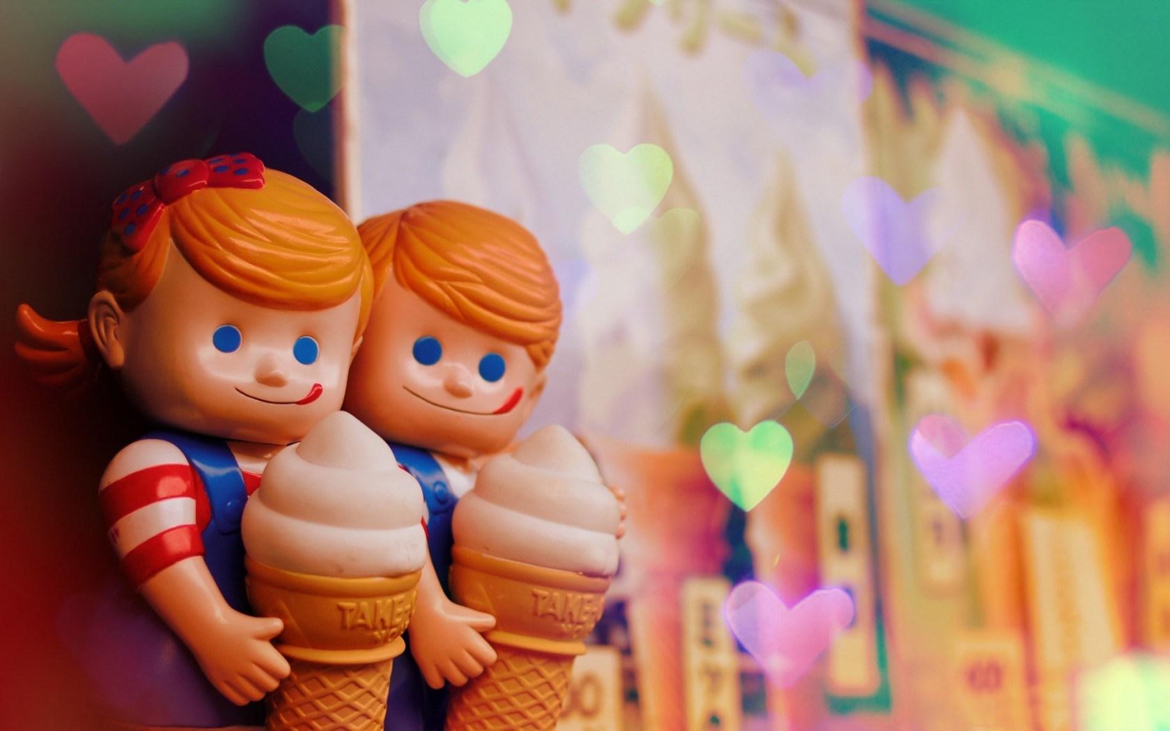 Dolls Girl Boy Ice Cream Hearts