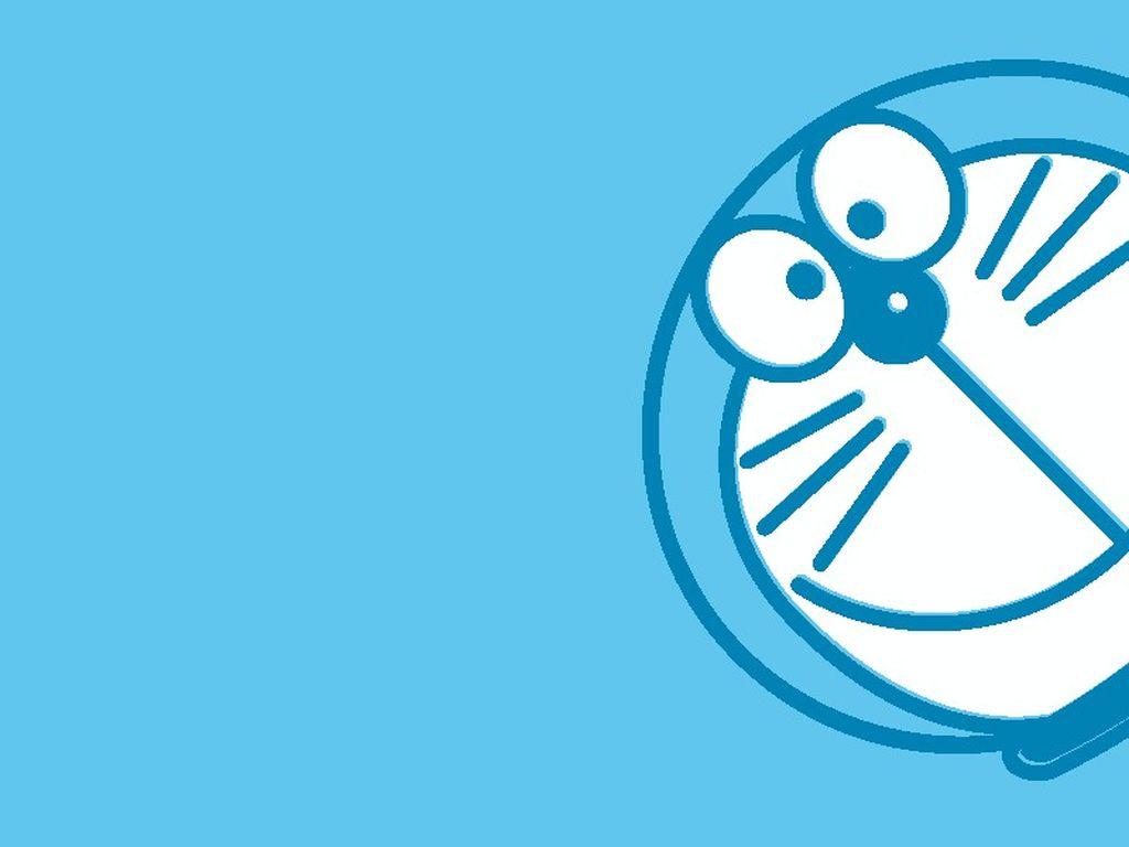 Doraemon Blue Wallpaper Background
