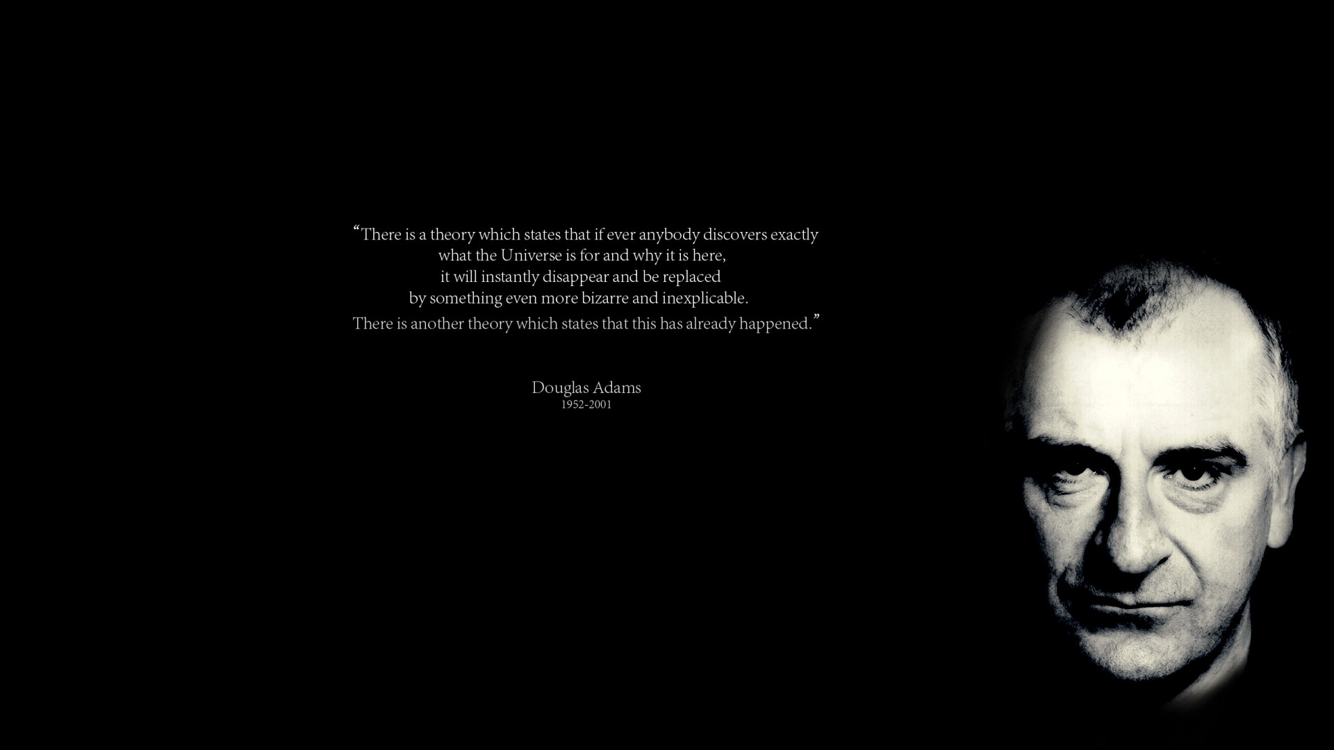 Douglas adams wallpaper