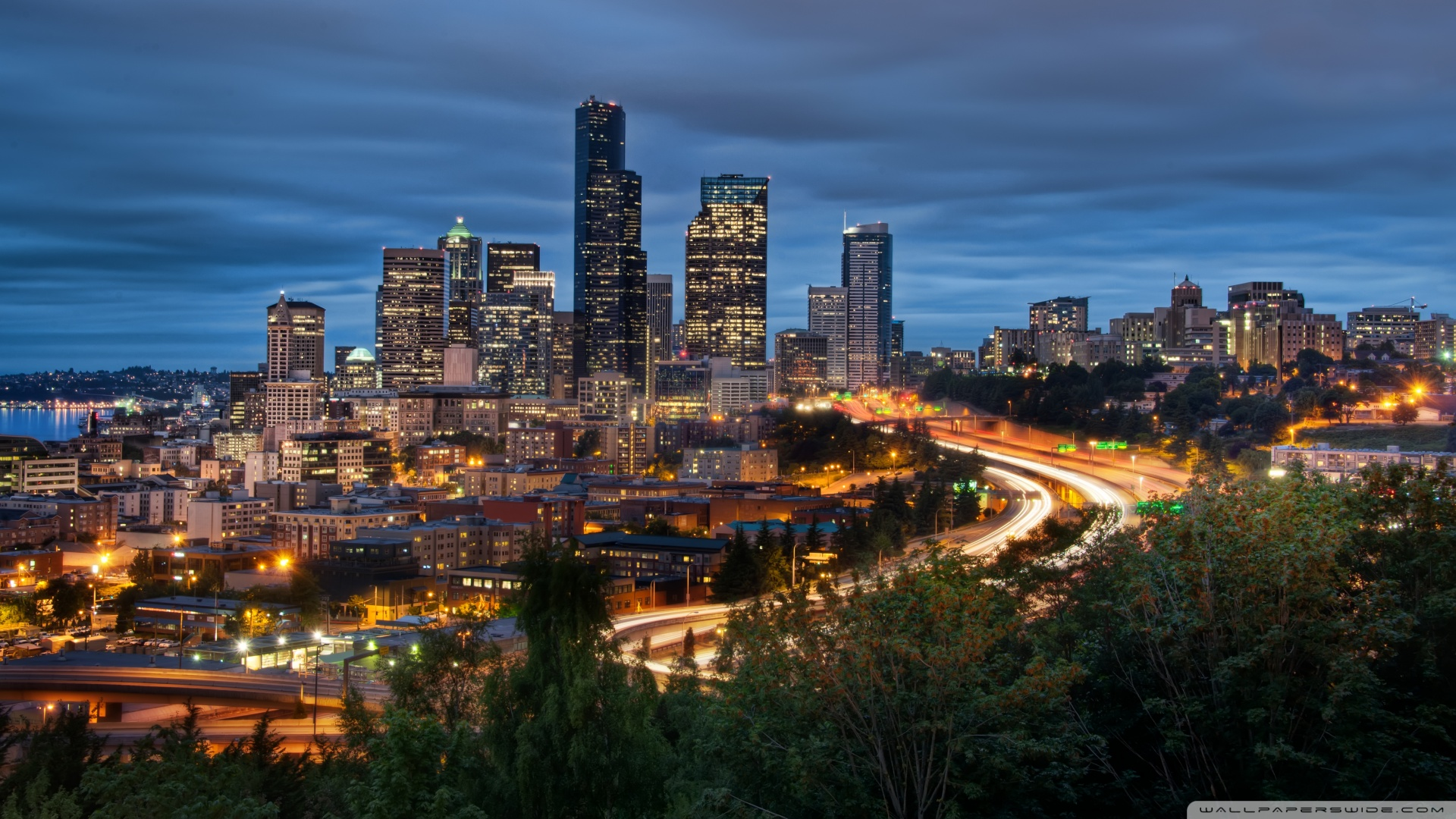 Downtown Seattle Wallpaper 40857 1920x1080 px