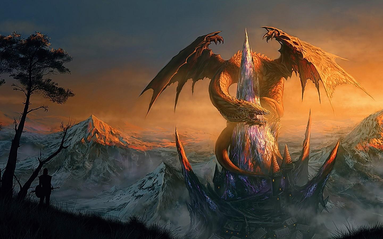 1440x900 Dragons Fantasy wallpaper