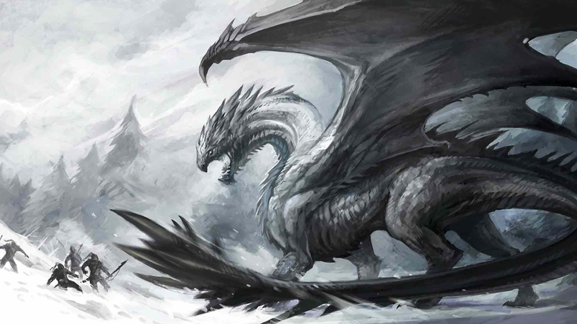 Demon dragon fantasy wallpaper