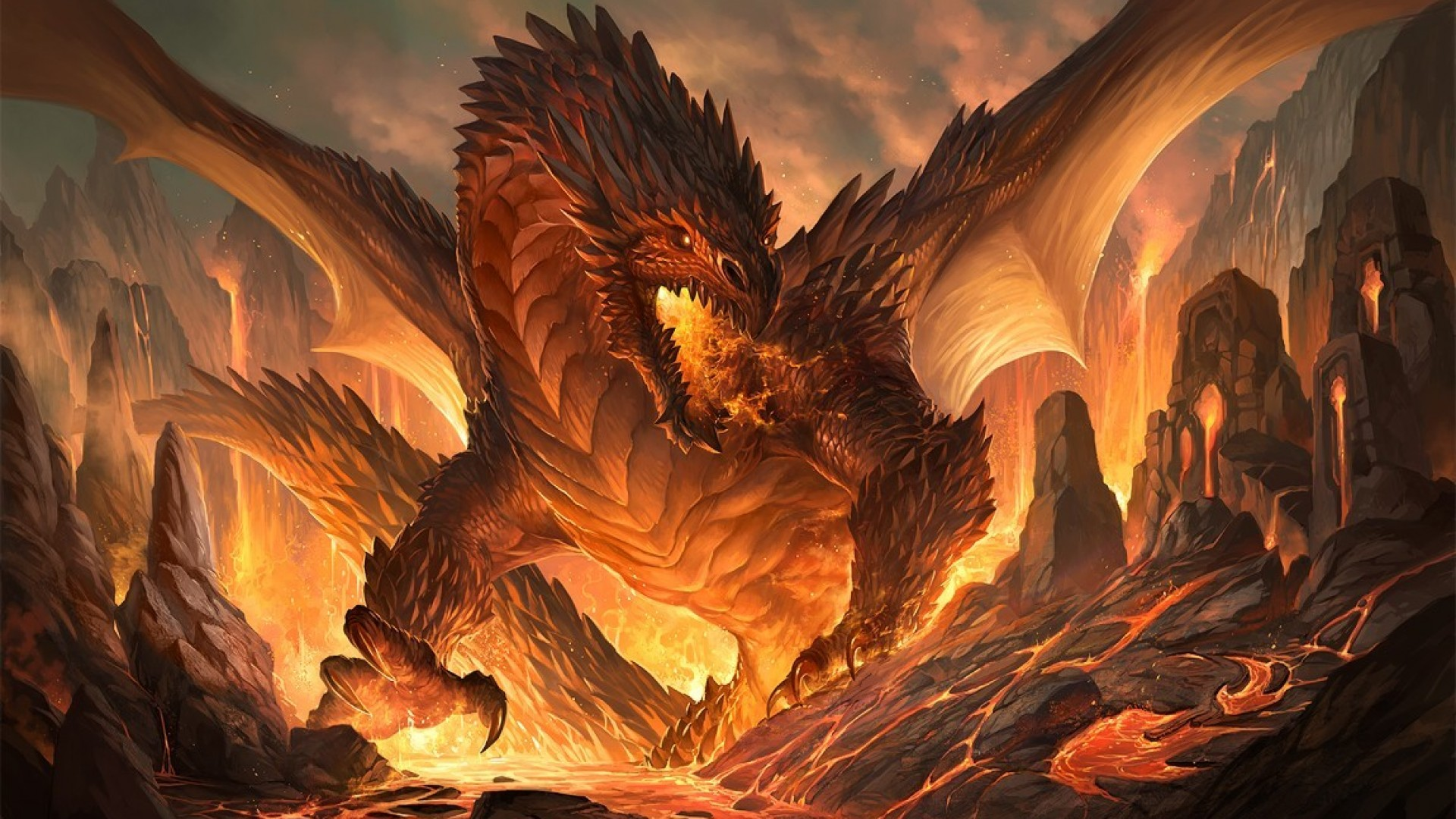 Dragon fantasy art