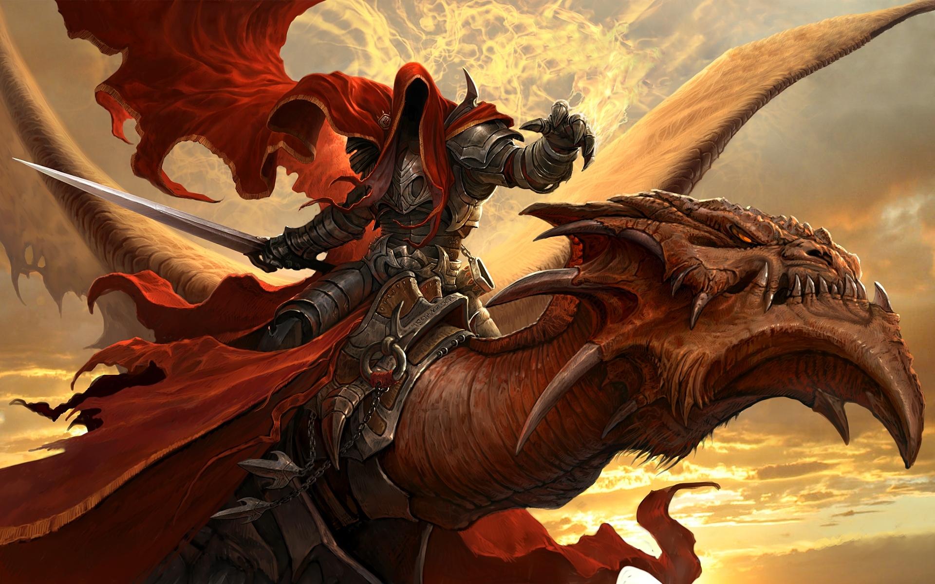 Fierce Dragon Rider HD Wallpapers