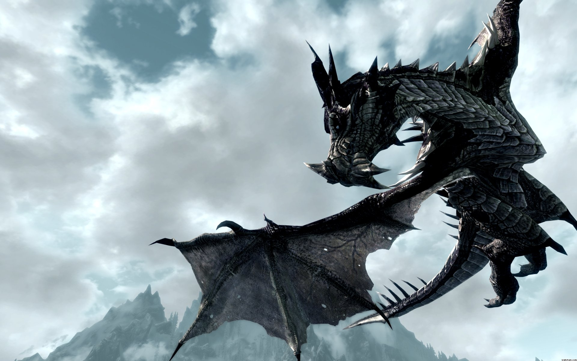 Kill Frost Dragon Skyrim Skyrim Dragon Flyby