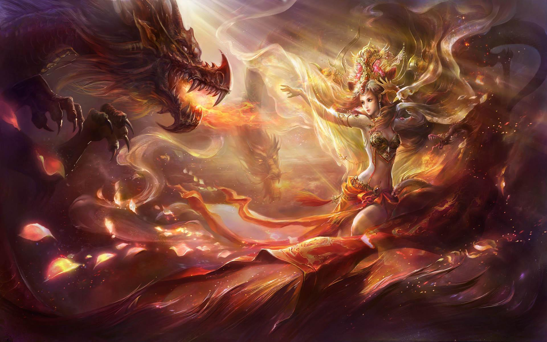 Wallpaper Tags: dragon queen fantasy beauty