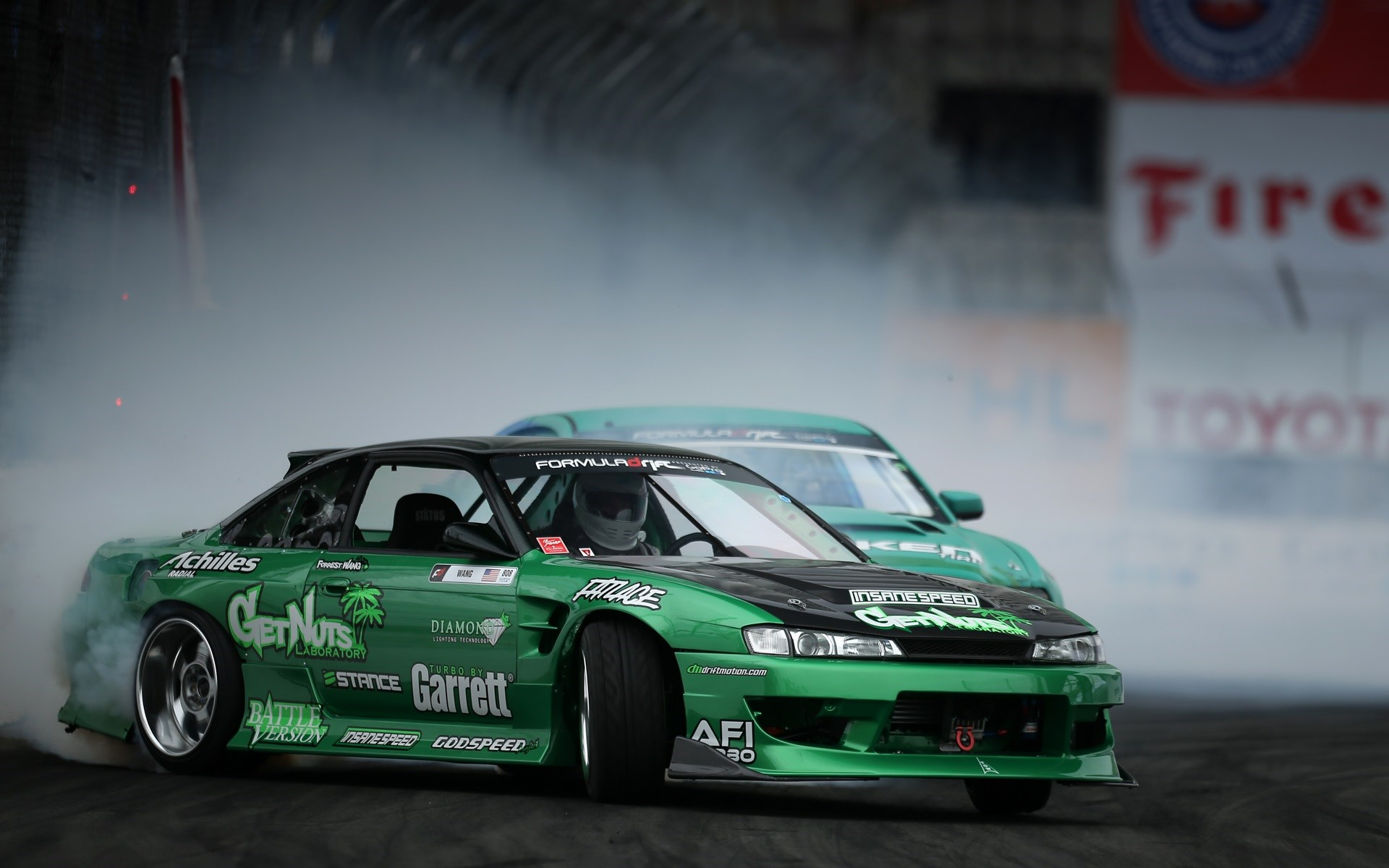 Drift Nissan Silvia Smoke HD Wallpaper
