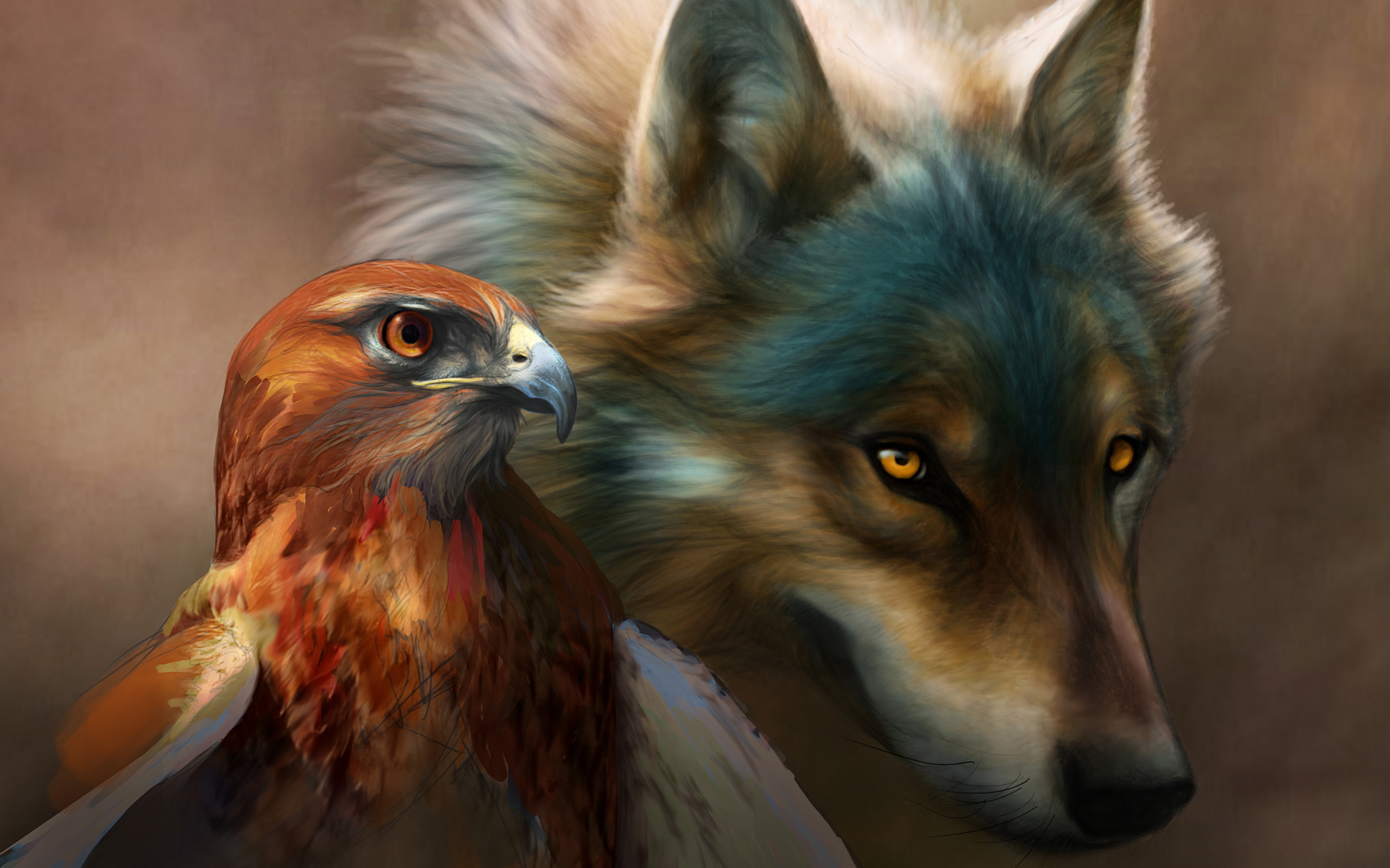 Eagle wolf