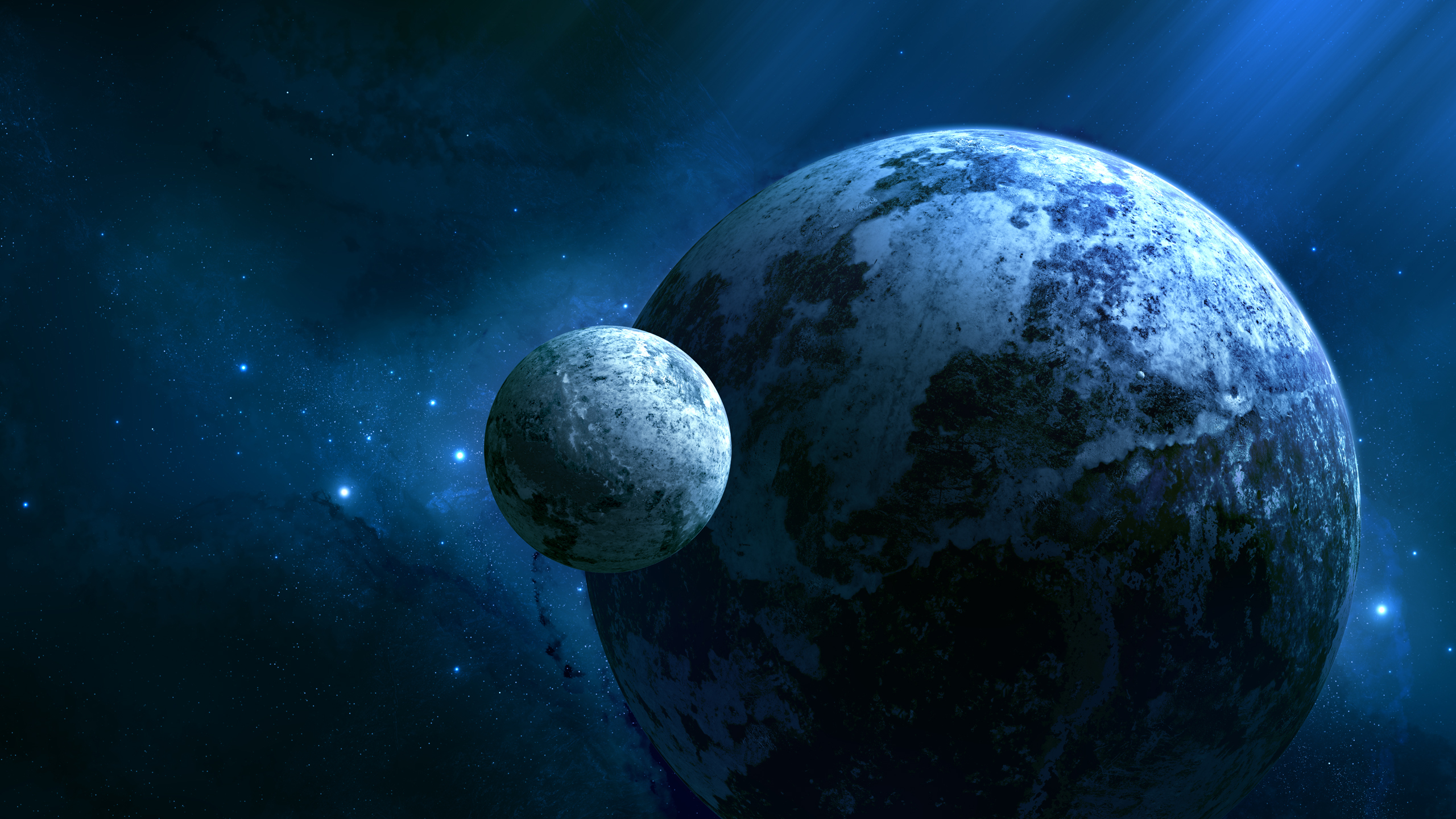 earth and moon background wallpaper | 2560x1440 | #34468