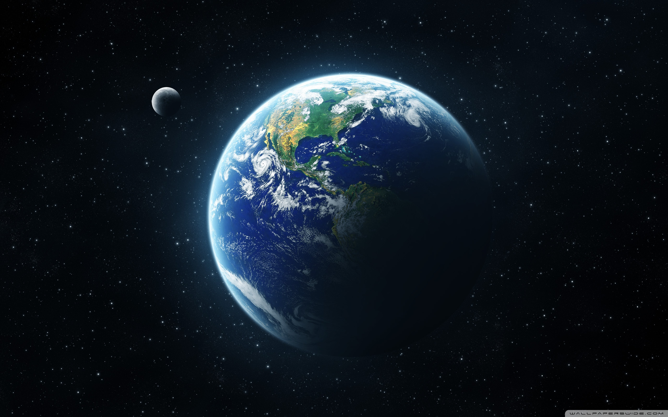 Earth and Space Wallpaper