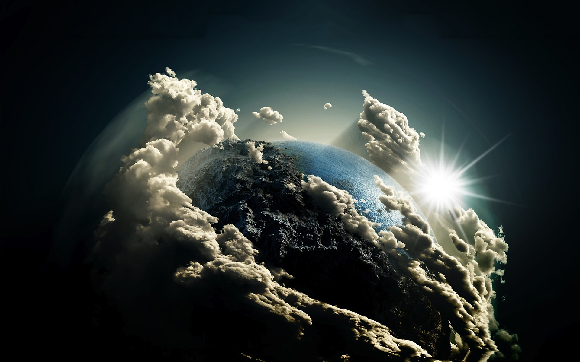 Earth clouds art