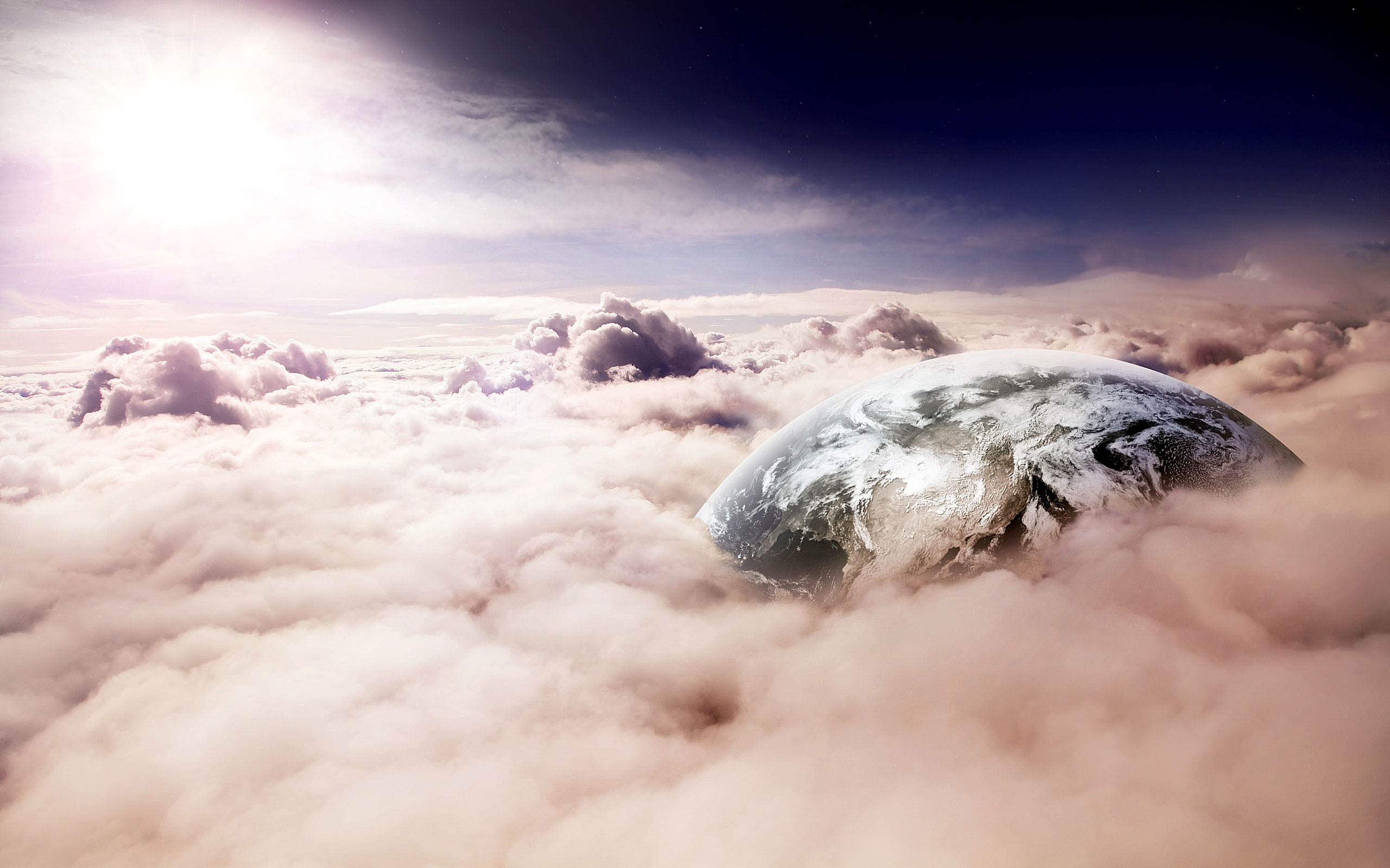 Earth Encased Clouds