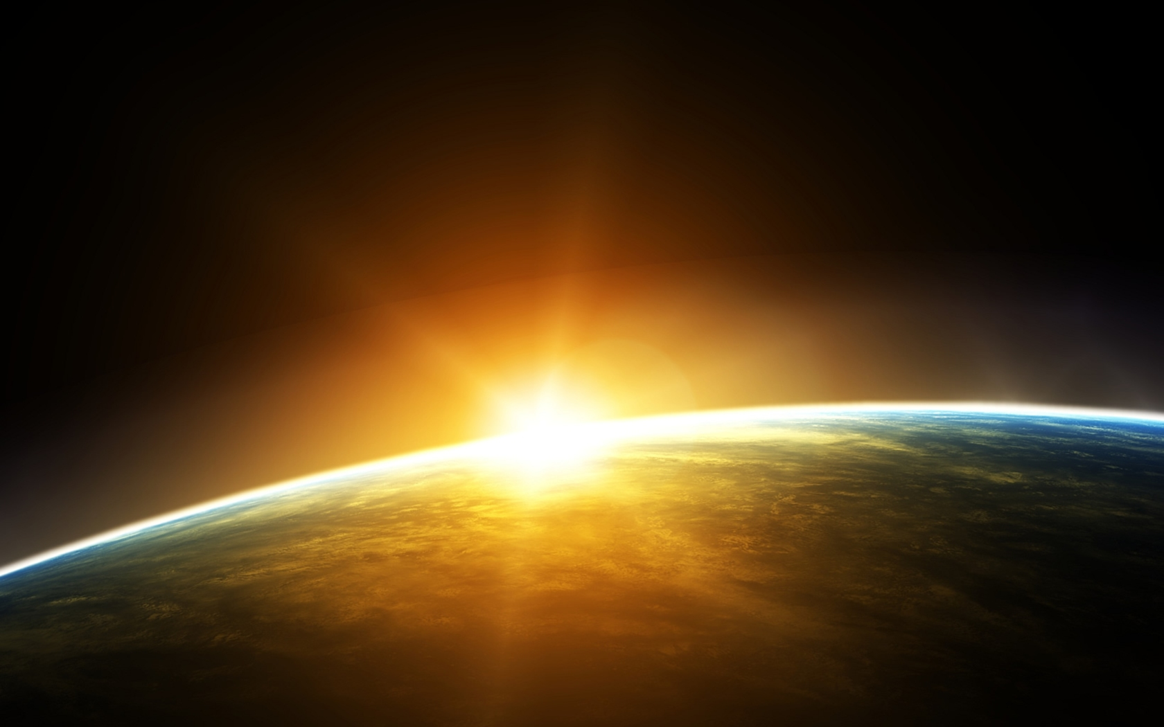 Earth space sun
