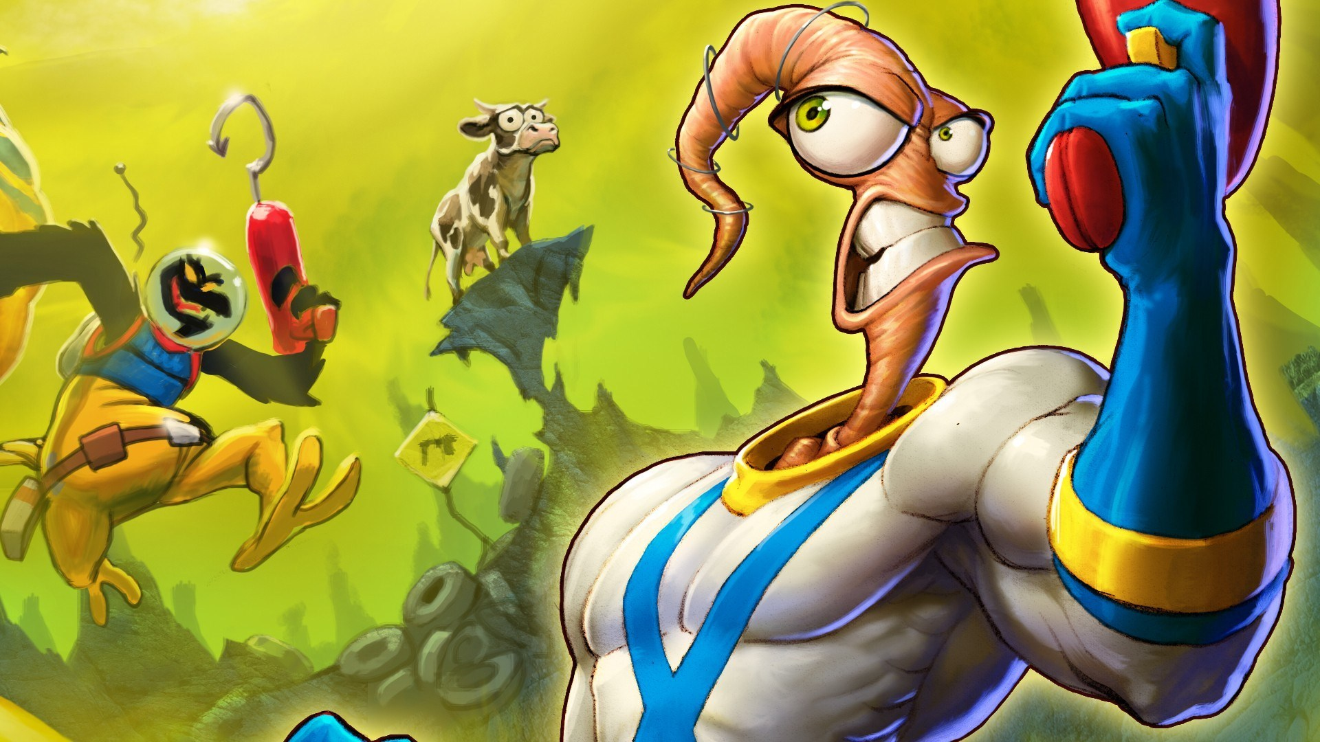 Earthworm Jim Game Cartoon