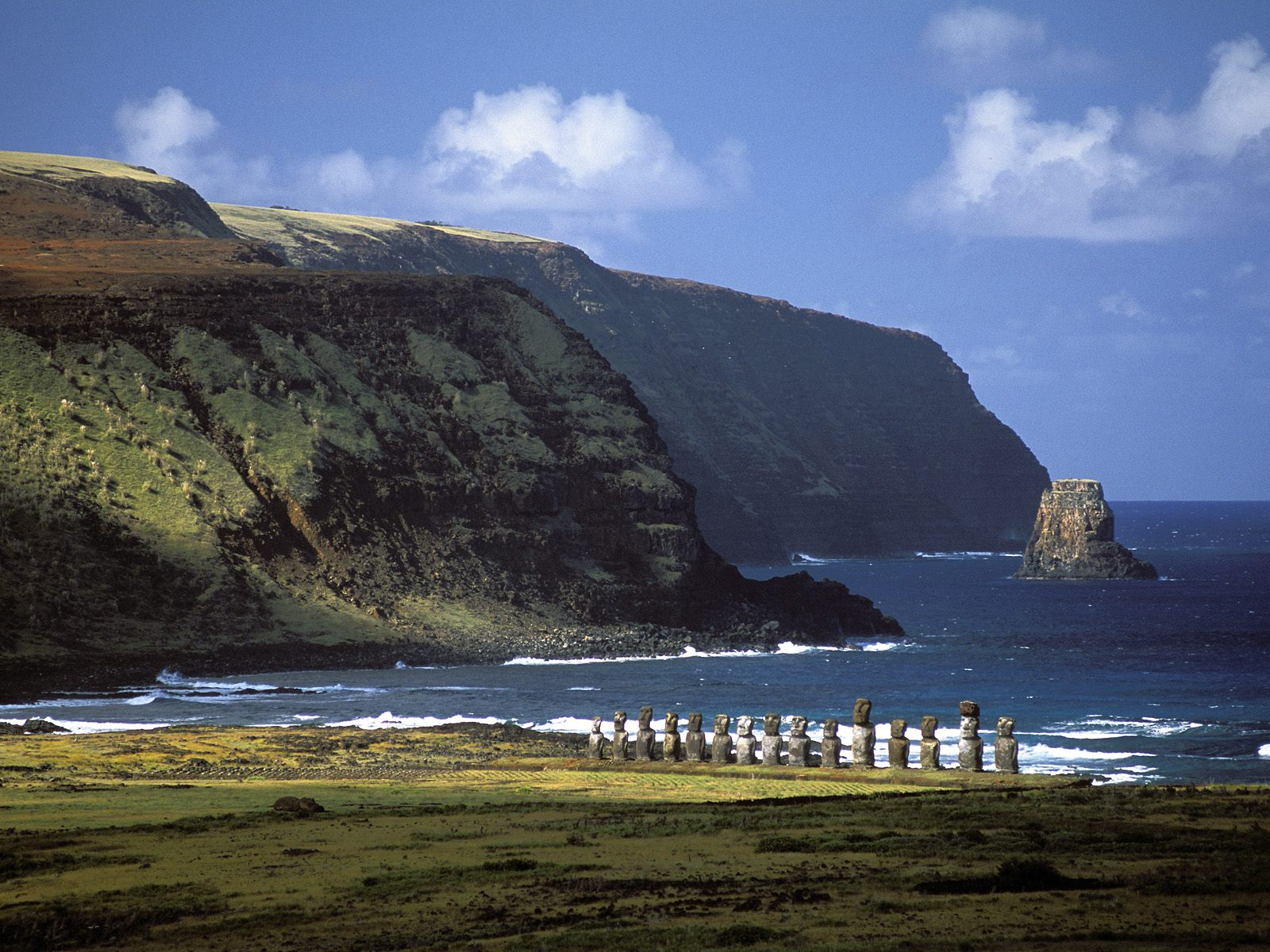 There are a couple of different theories of how these extraterrestrials came across Easter Island ...