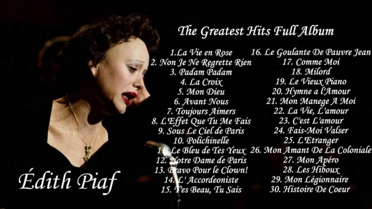 Edith Piaf - The Greatest Hits Full Album | Meilleures chansons de Edith Piaf