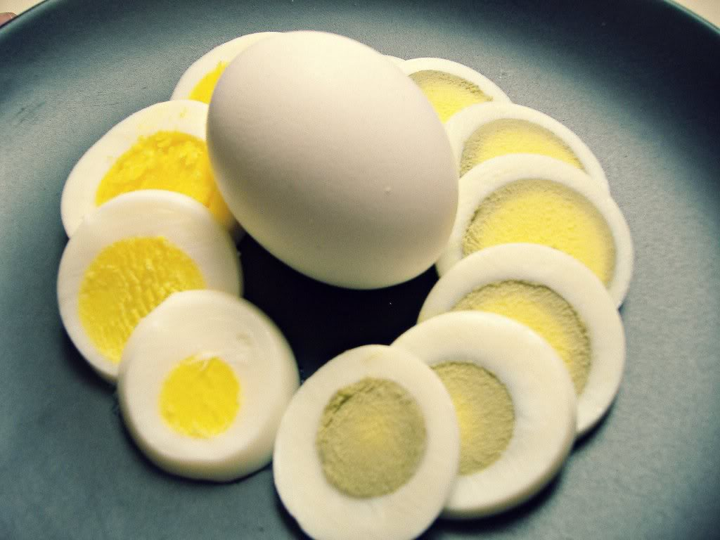 Science Lesson – That gray ring around the yolk is actually the iron in the egg yolk reacting with the hydrogen sulfide from the white… and only happens ...