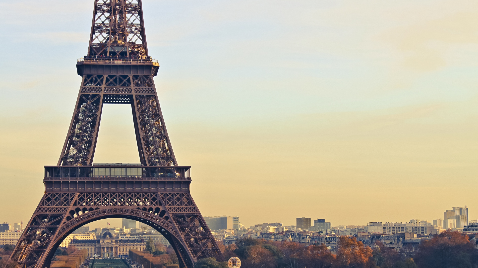 Preview wallpaper paris, france, eiffel tower 1920x1080