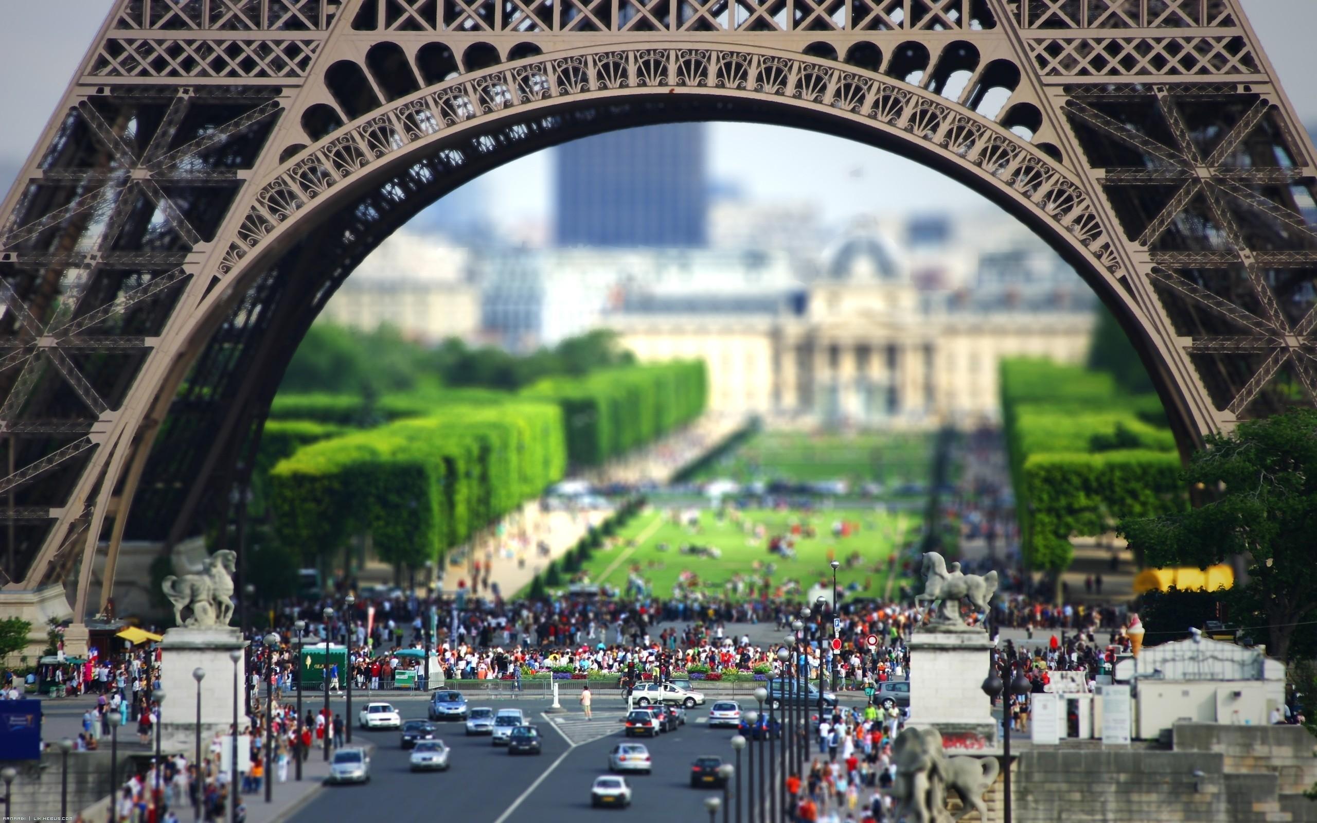 Eiffeltower Tilt Shift Effekt