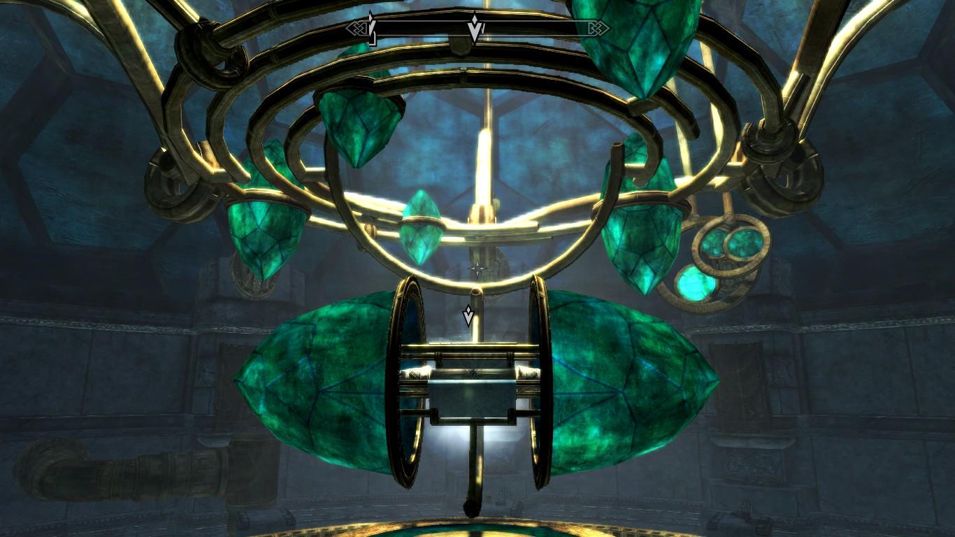 The Elder Scroll's receptacle in the Tower of Mzark.
