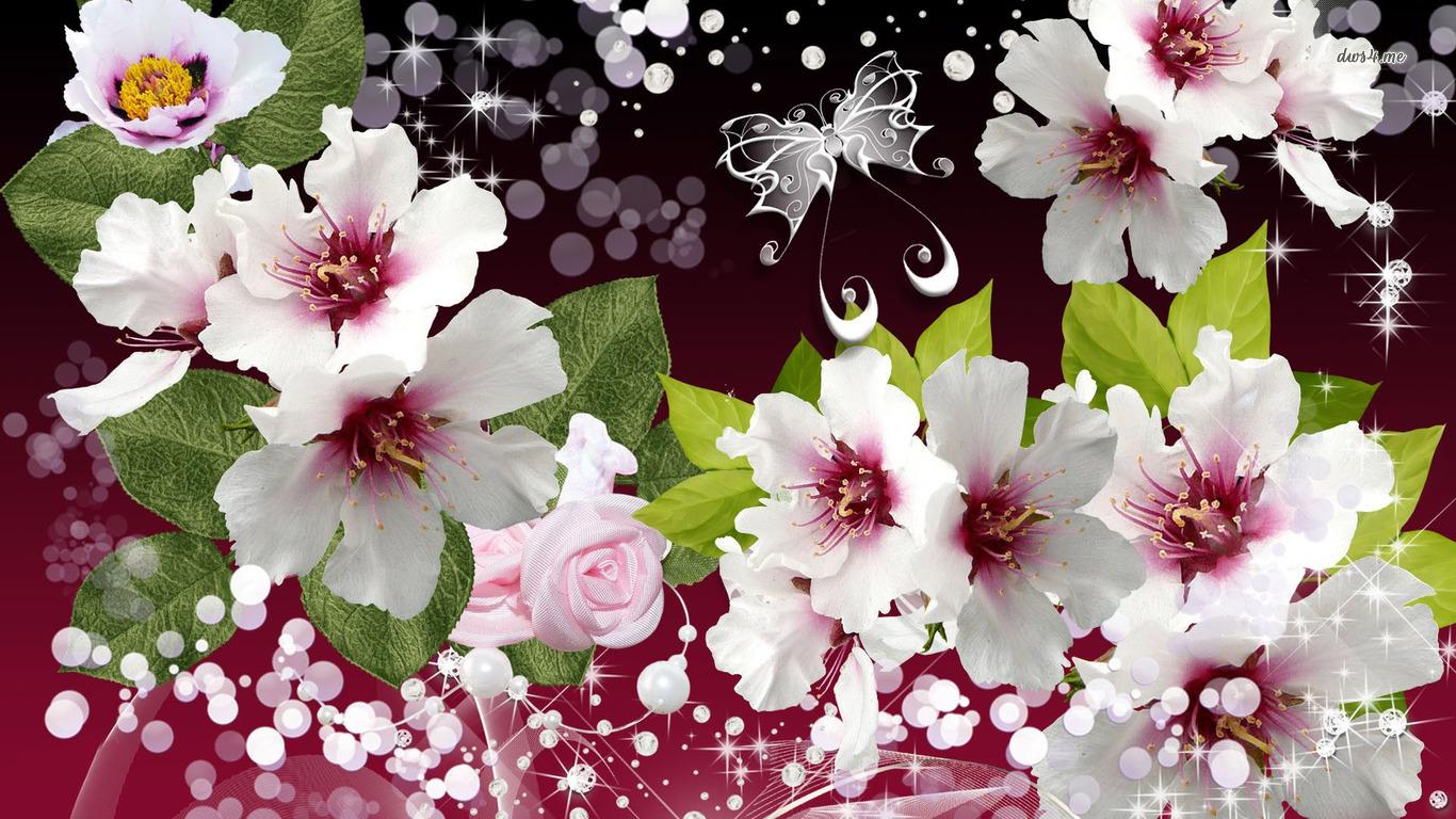 Elegant flowers wallpaper 1280x800 · Elegant flowers wallpaper 1366x768 ...