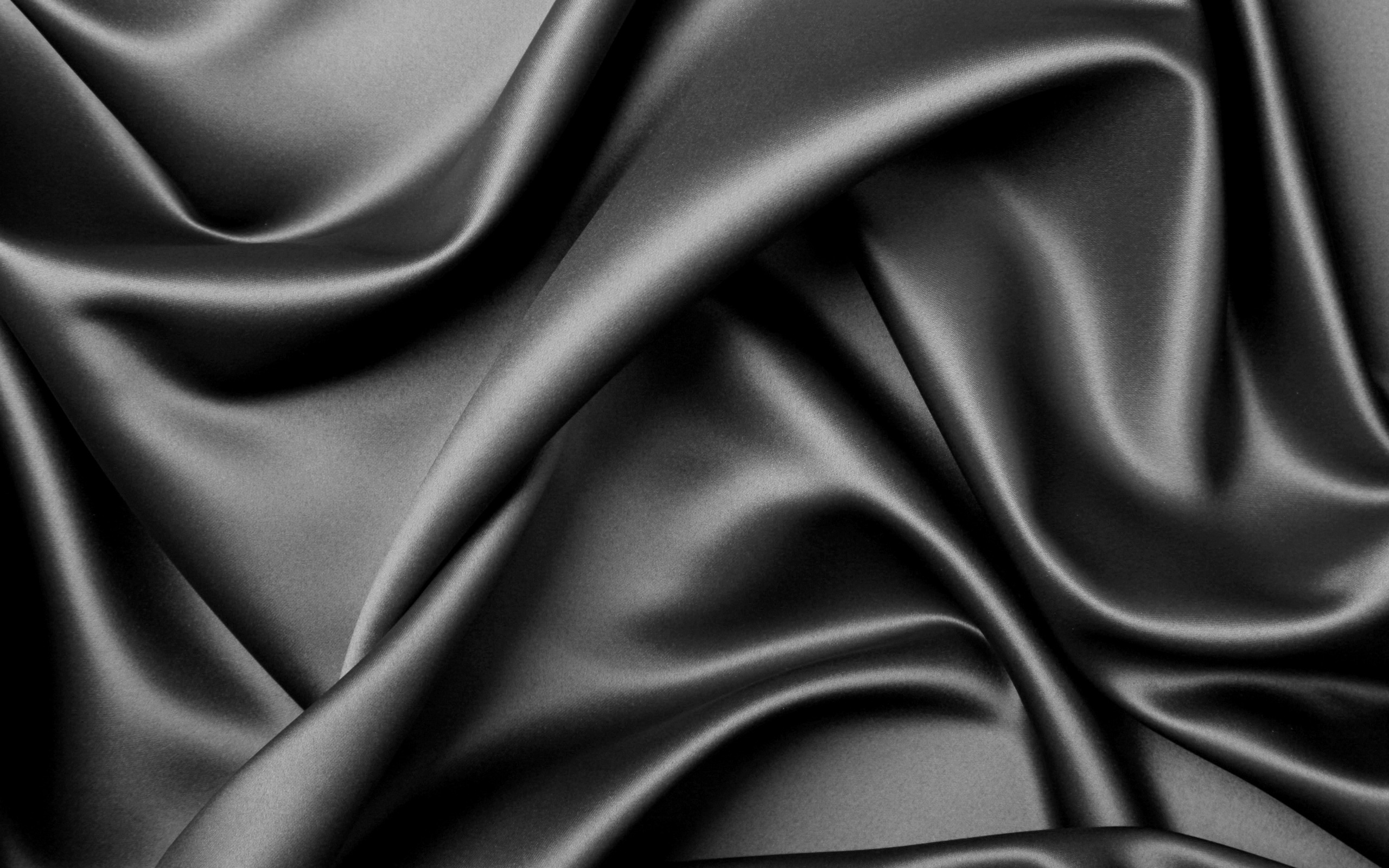 Black Textures Elegant Silk Theme Desktop Wallpaper