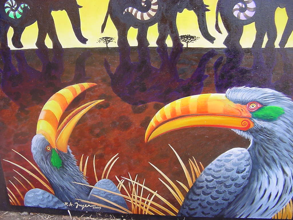 Elephants Africa Art