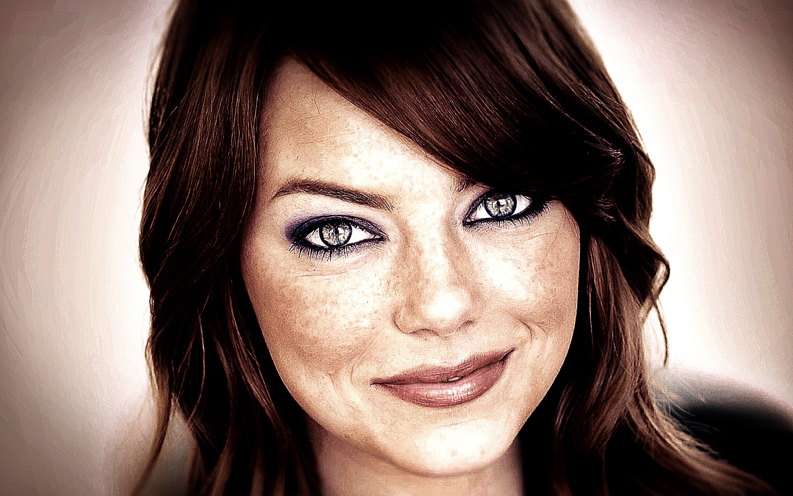 Emma Stone Portrait Girl