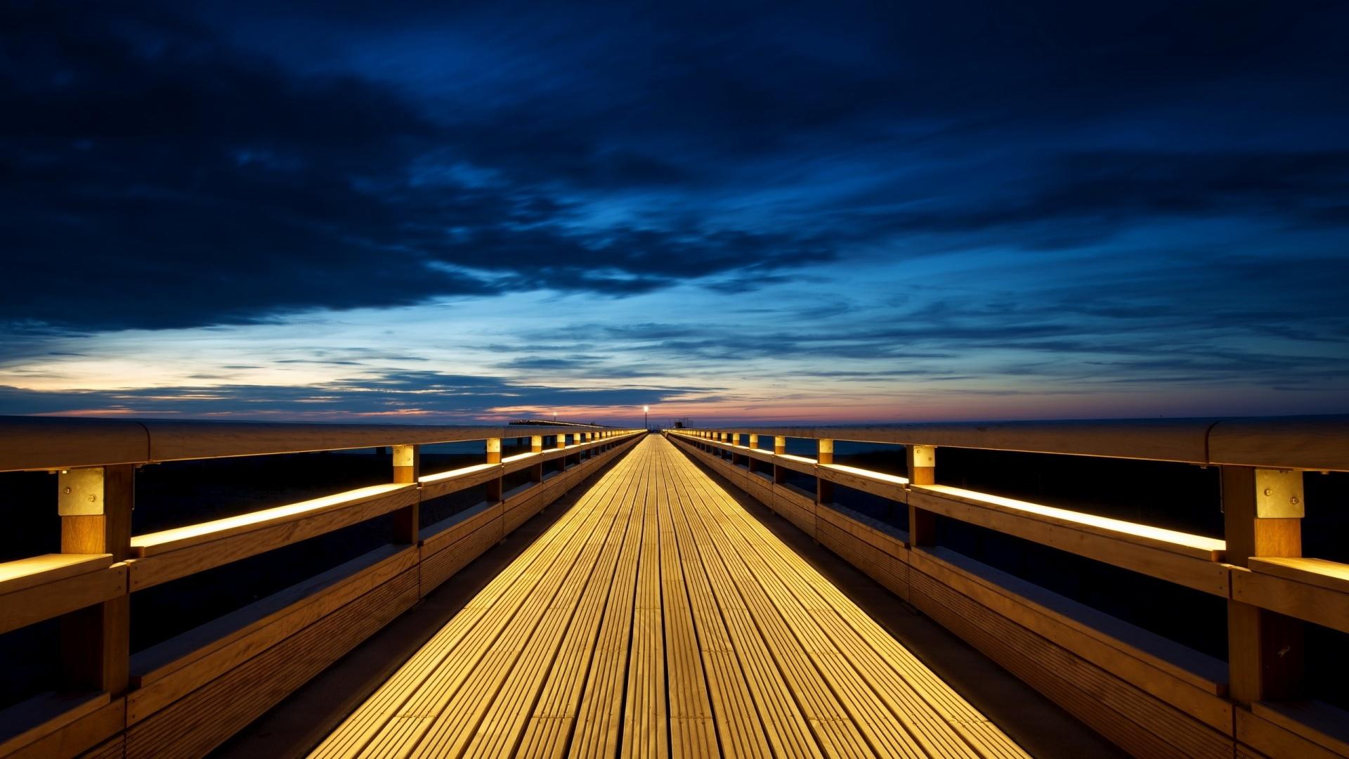 Awesome Endless Wooden Bridge Wallpaper HD Wallpaper