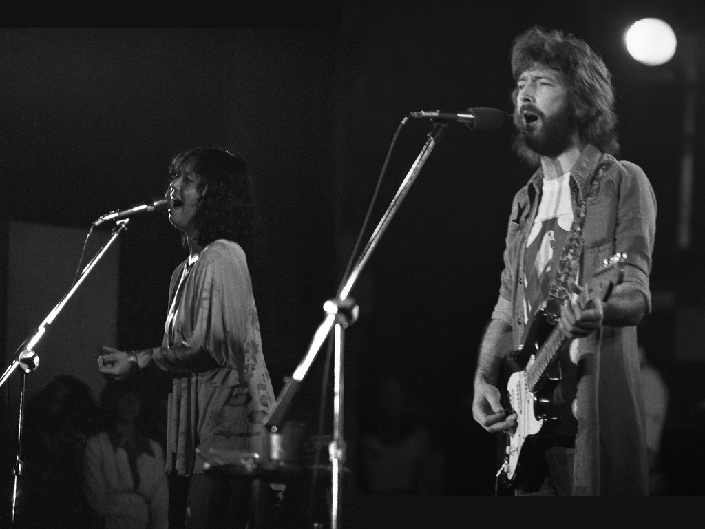 Yvonne Elliman with Clapton promoting 461 Ocean Boulevard in 1974