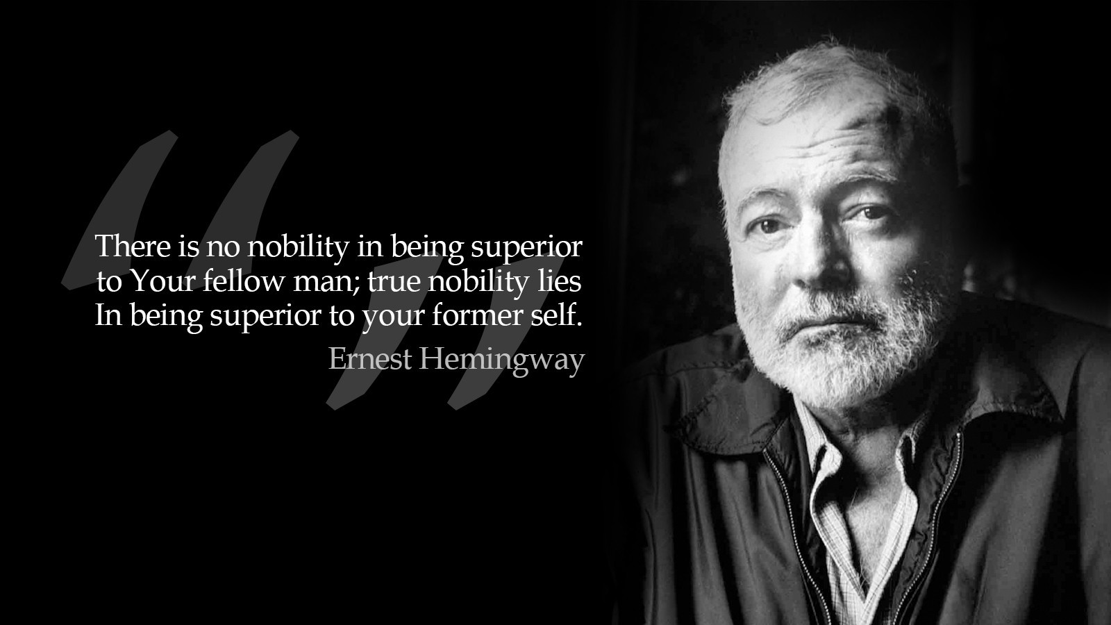 black and white quotes grayscale monochrome Ernest Hemingway wallpaper background