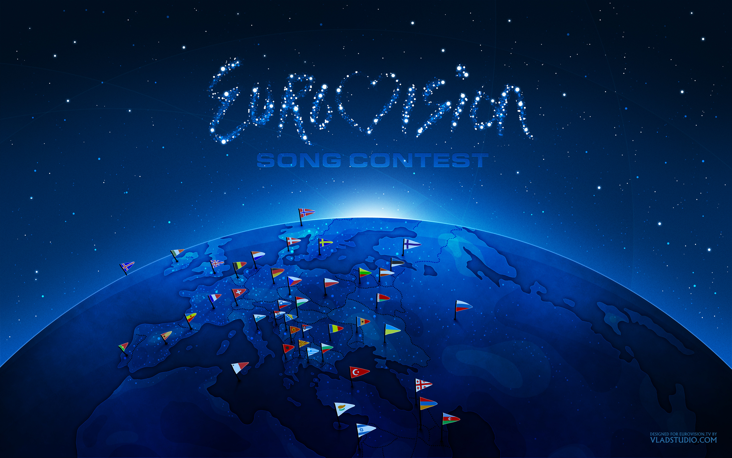Desktop Wallpaper: Europe By Night
