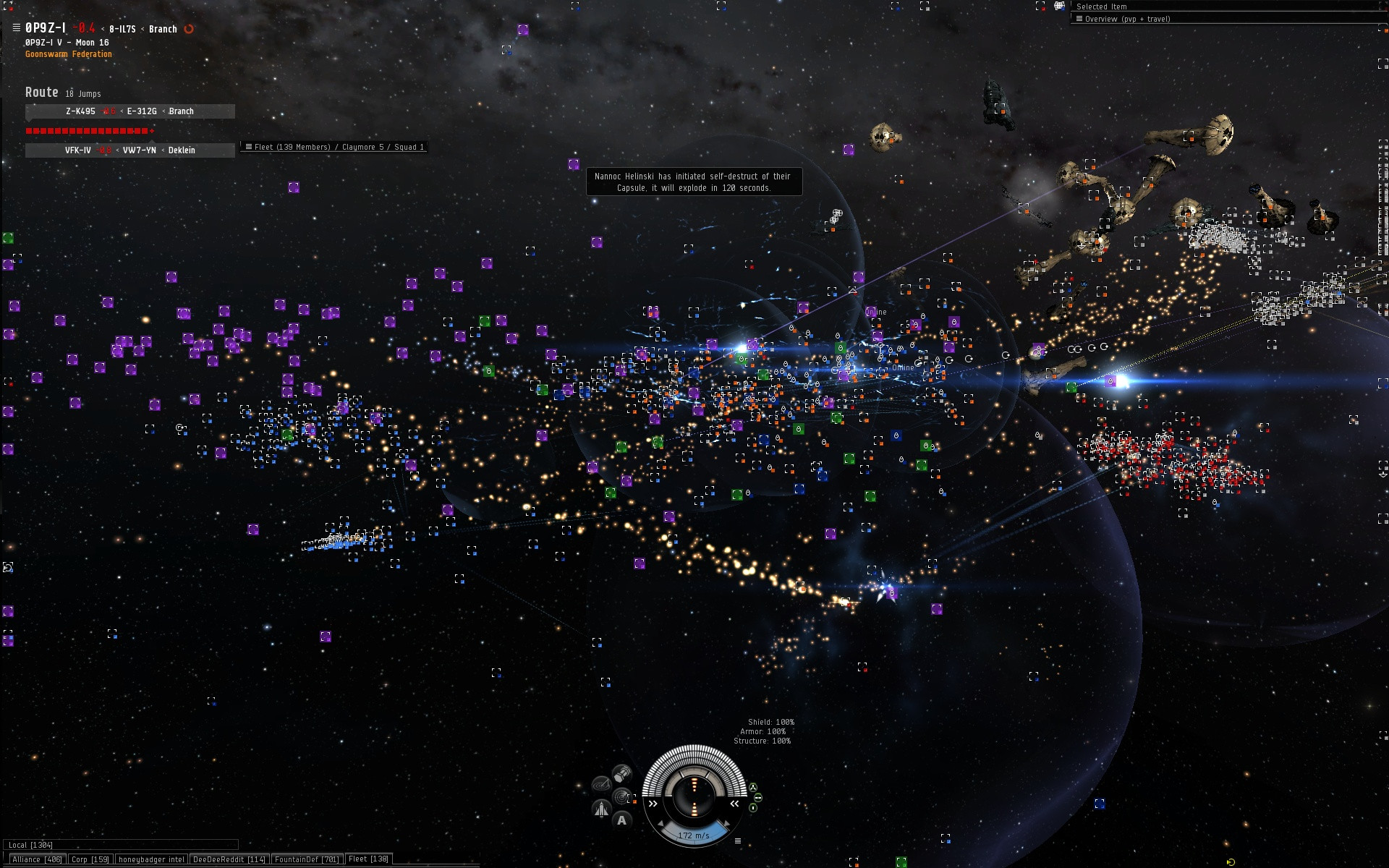 A picture from a recent Time Dilated fleet fight courtesy of Deathcrow (click to enlarge)