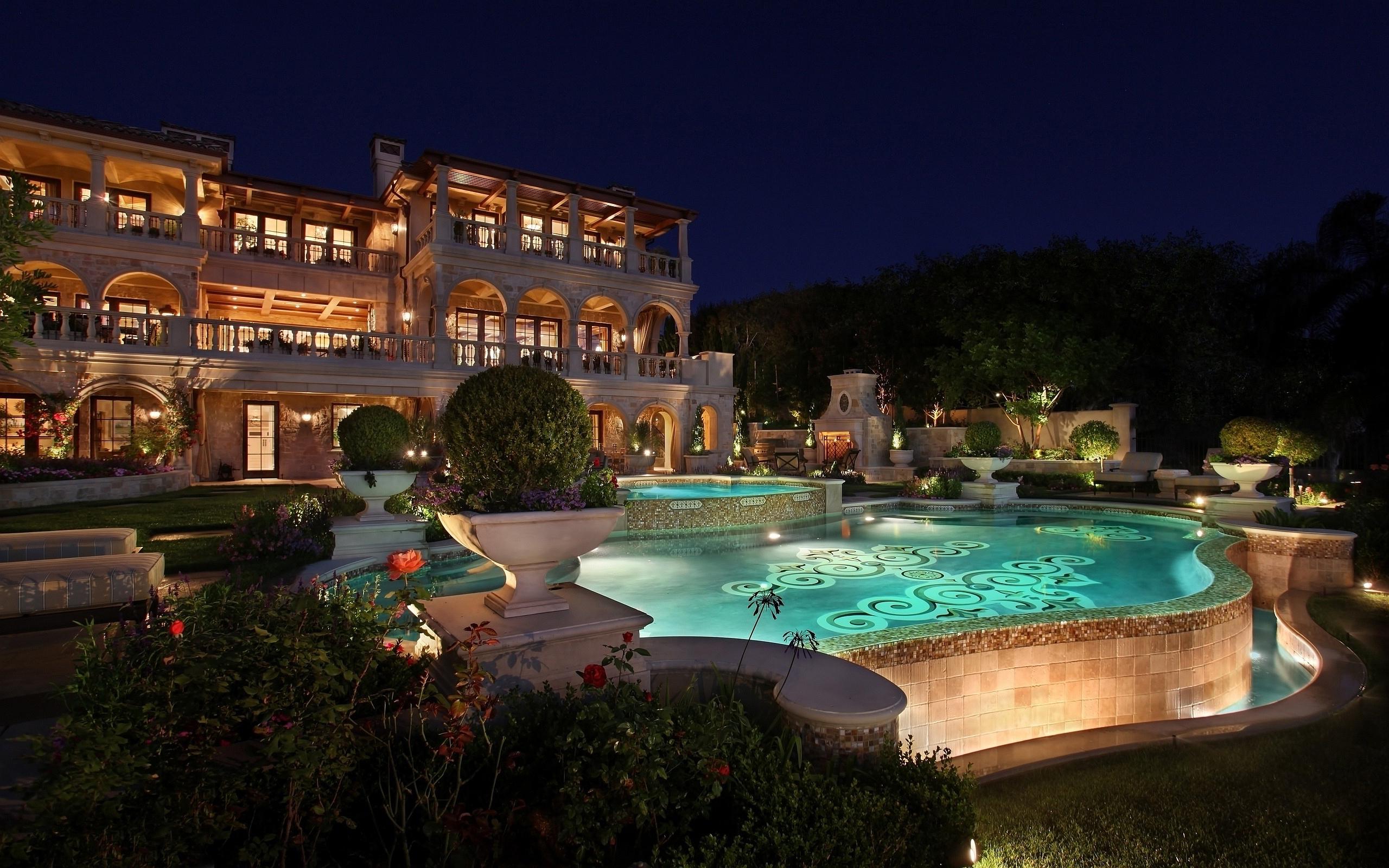 Evening luxury resort