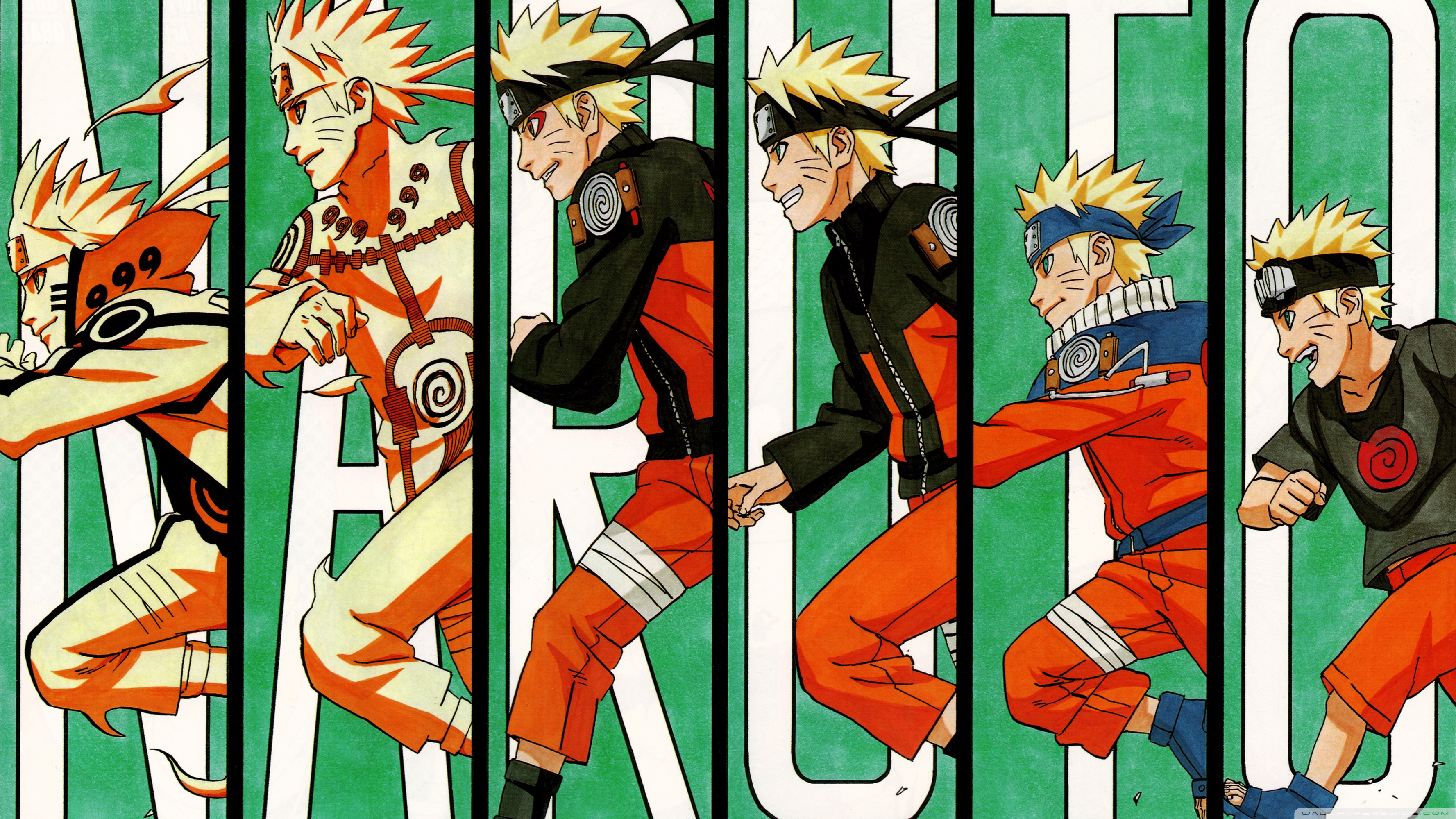 Evolution of naruto