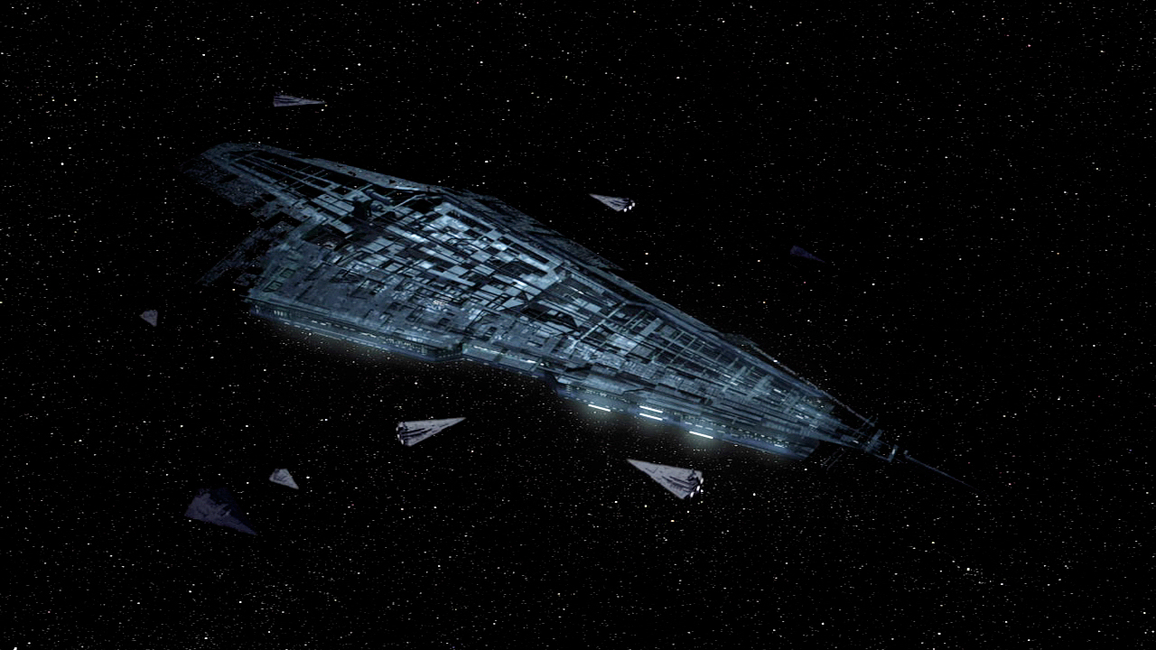 The Emperor's fleet surrounds the Executor.