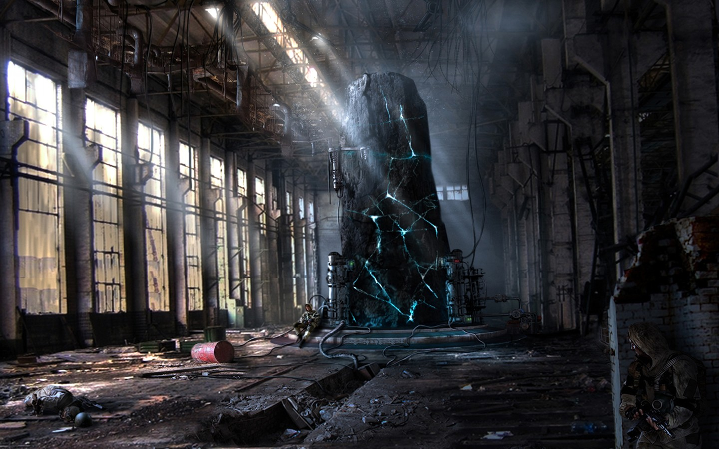 The ruins of the factory 32198